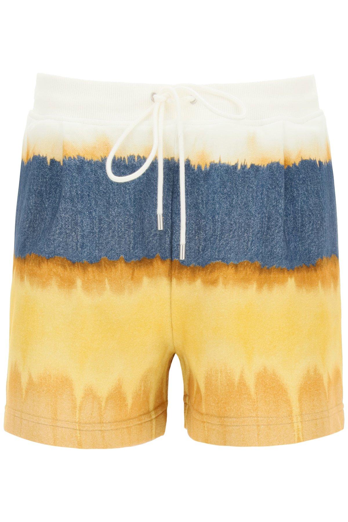Alberta ferretti shorts in jersey tie-dye i love summer