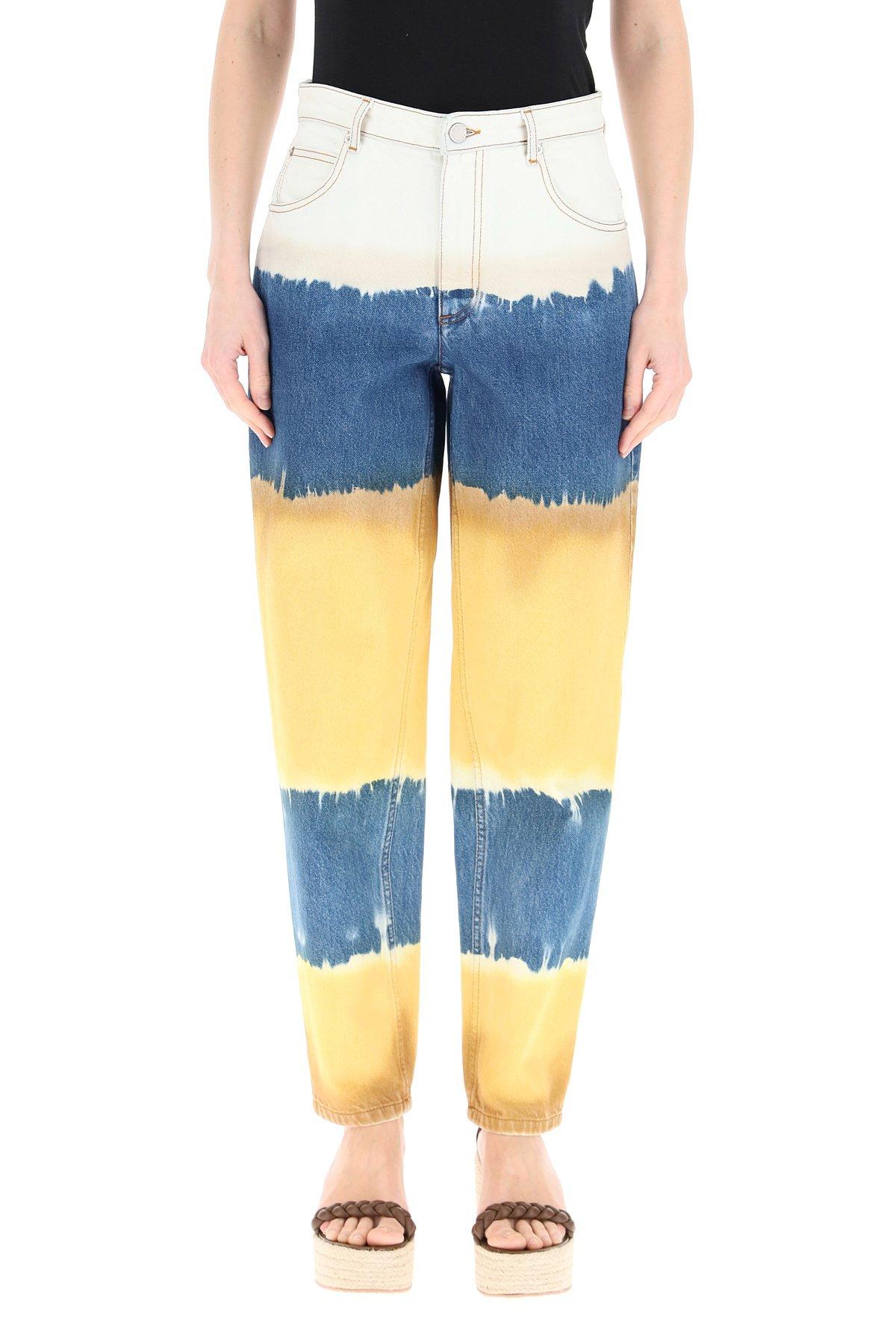 Alberta ferretti pantaloni tie-dye i love summer