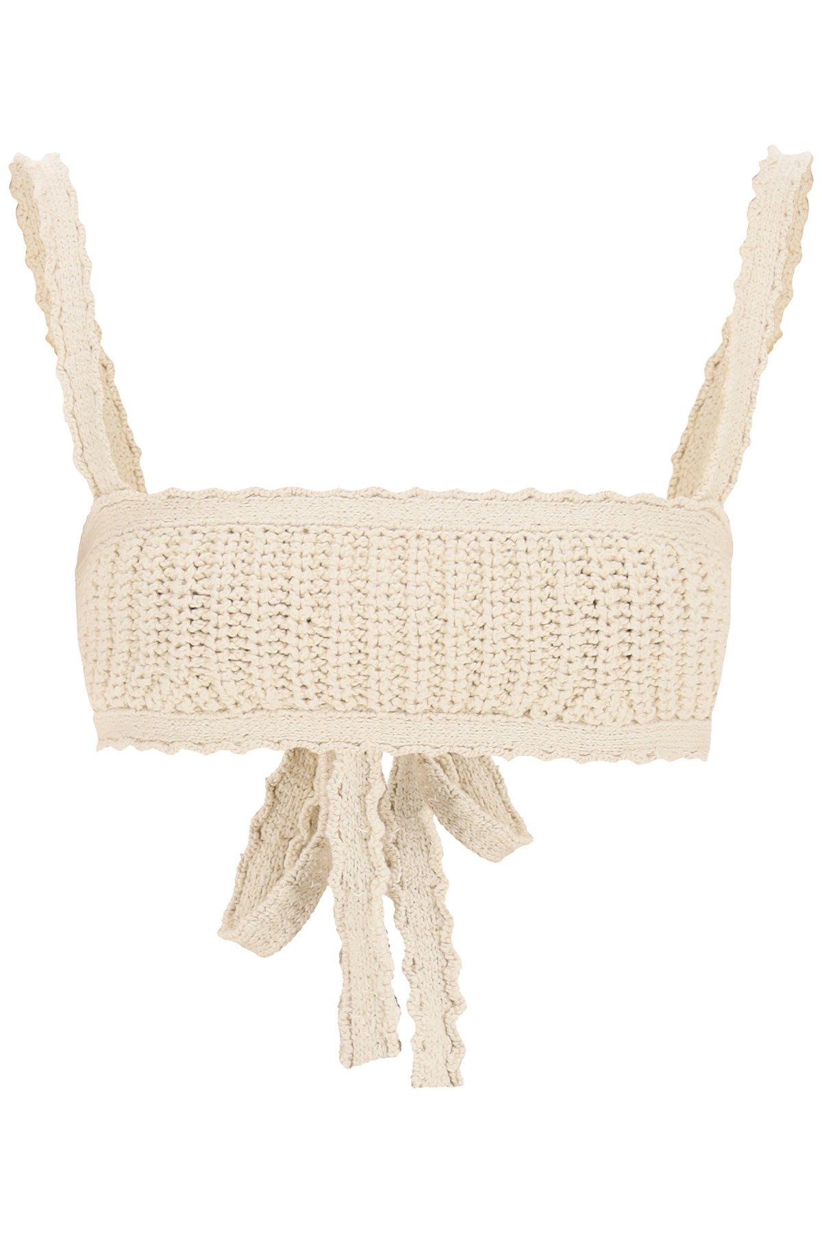 Alanui bralette in maglia di cotone