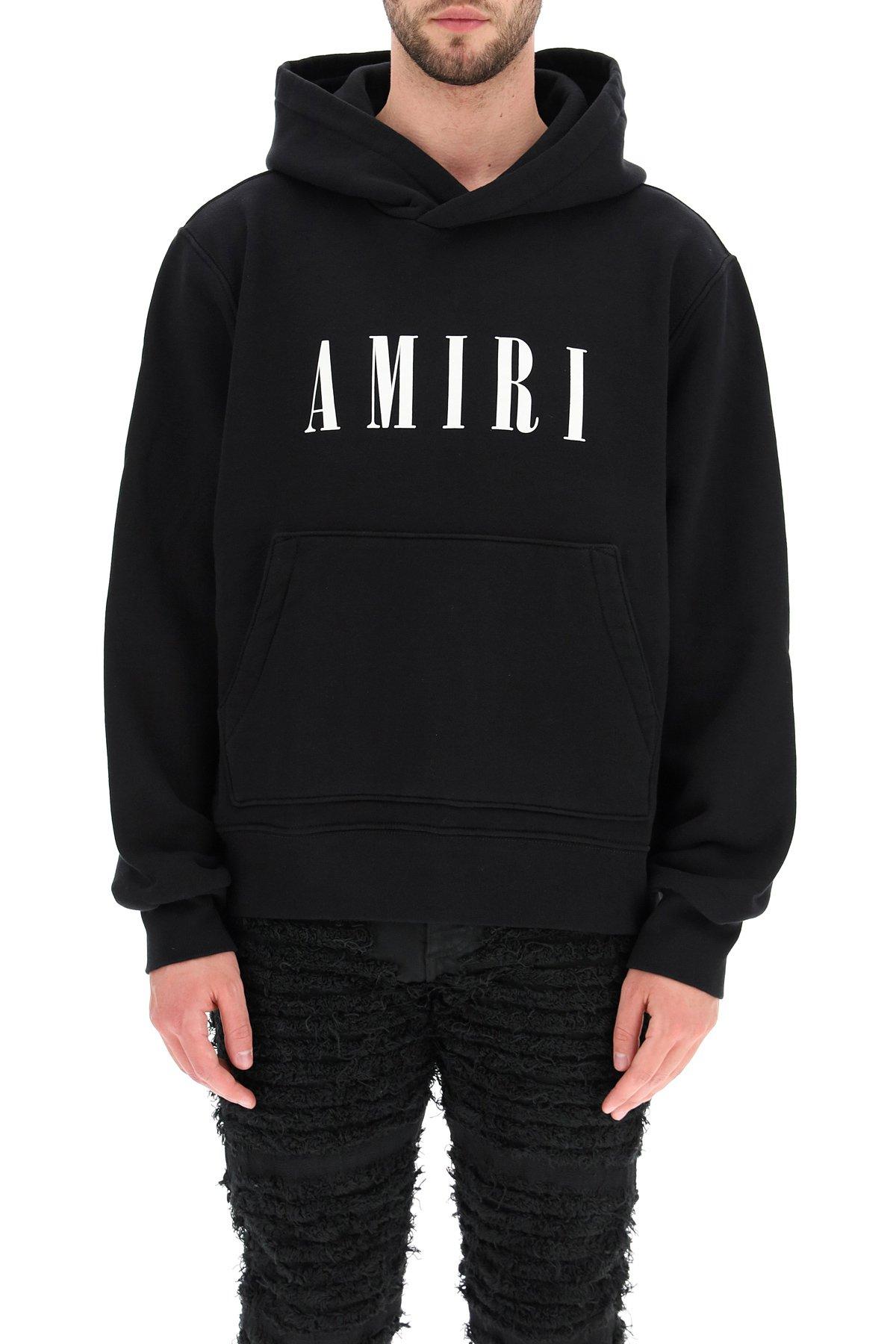 Amiri felpa con cappuccio stampa core logo