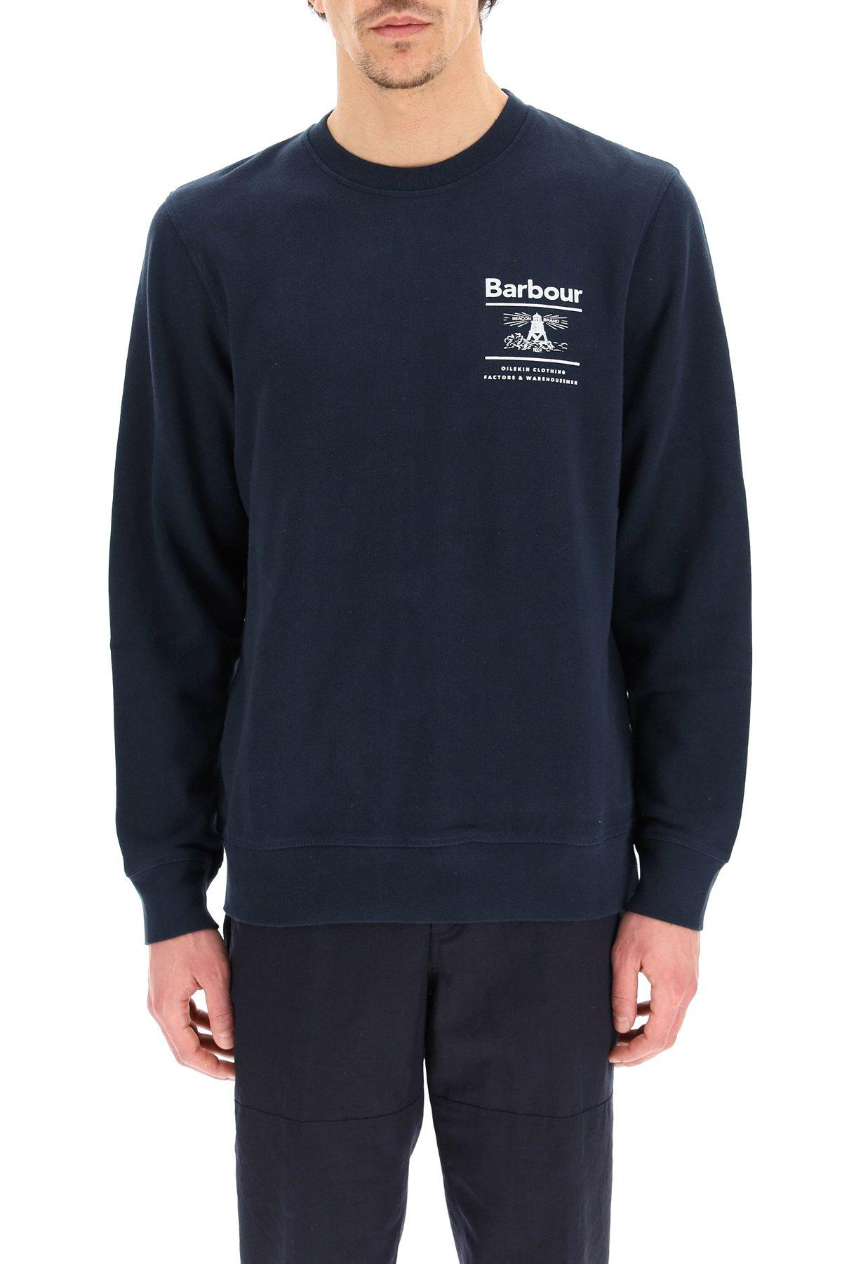 Barbour felpa logo barbour reed