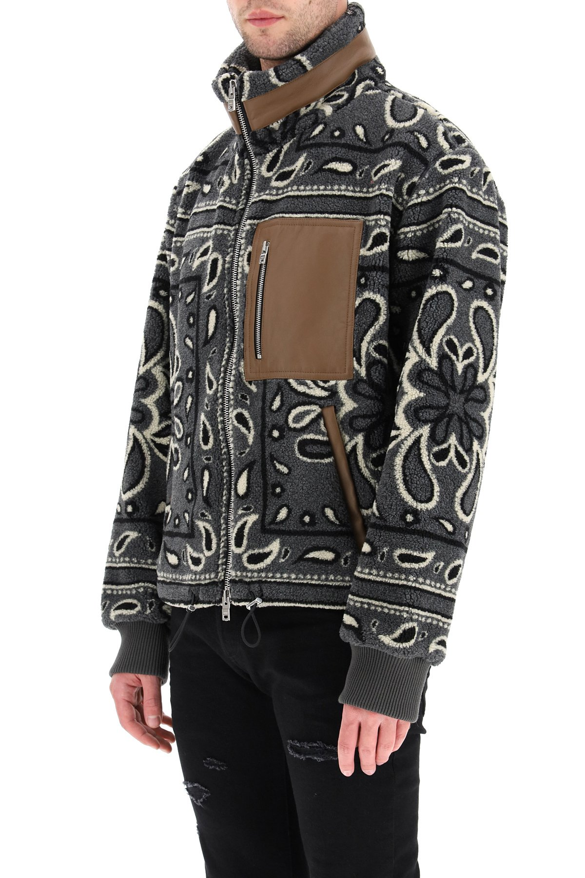 Amiri jacket pile sherpa stampa bandana