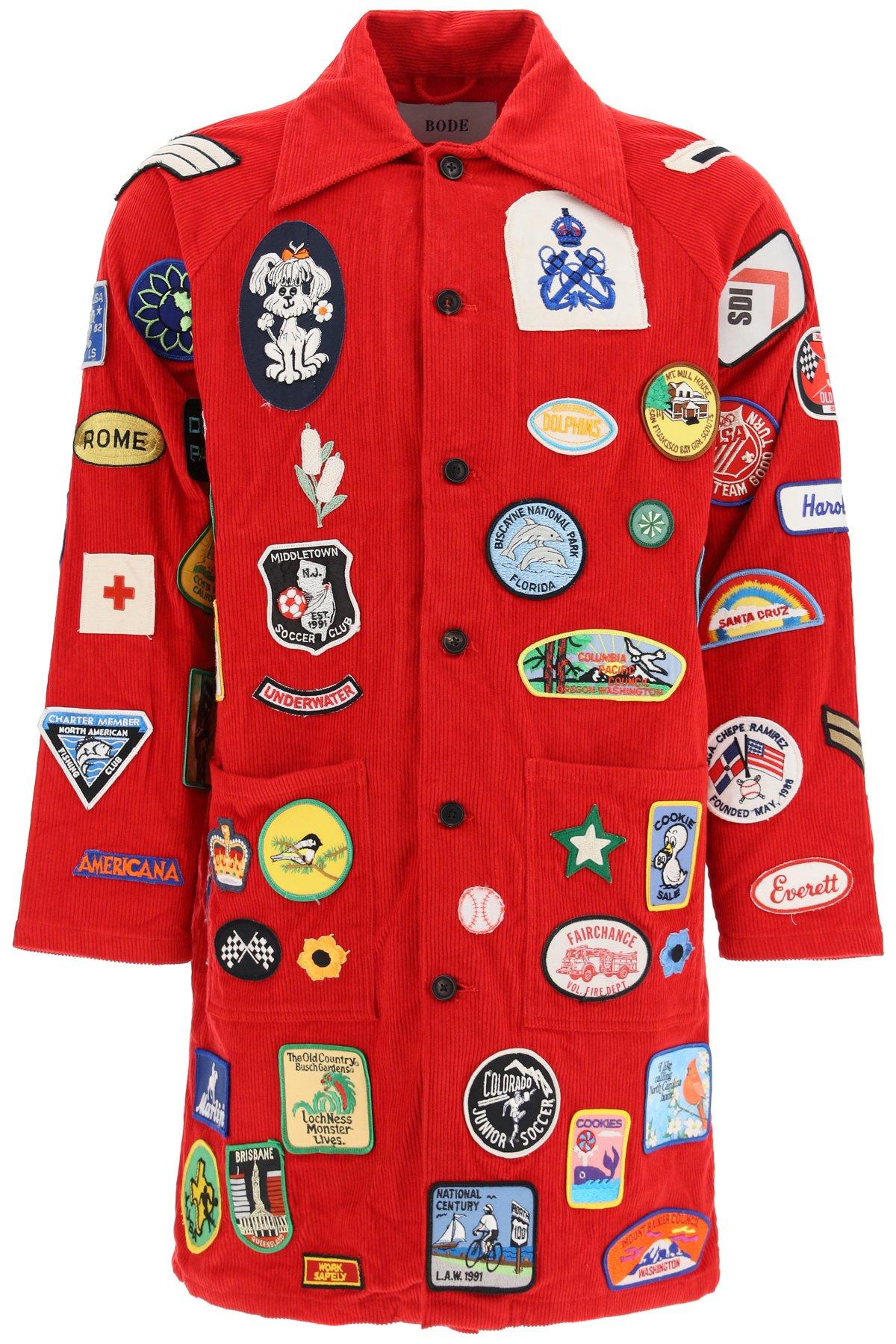 Bode cappotto con multi patch vintage