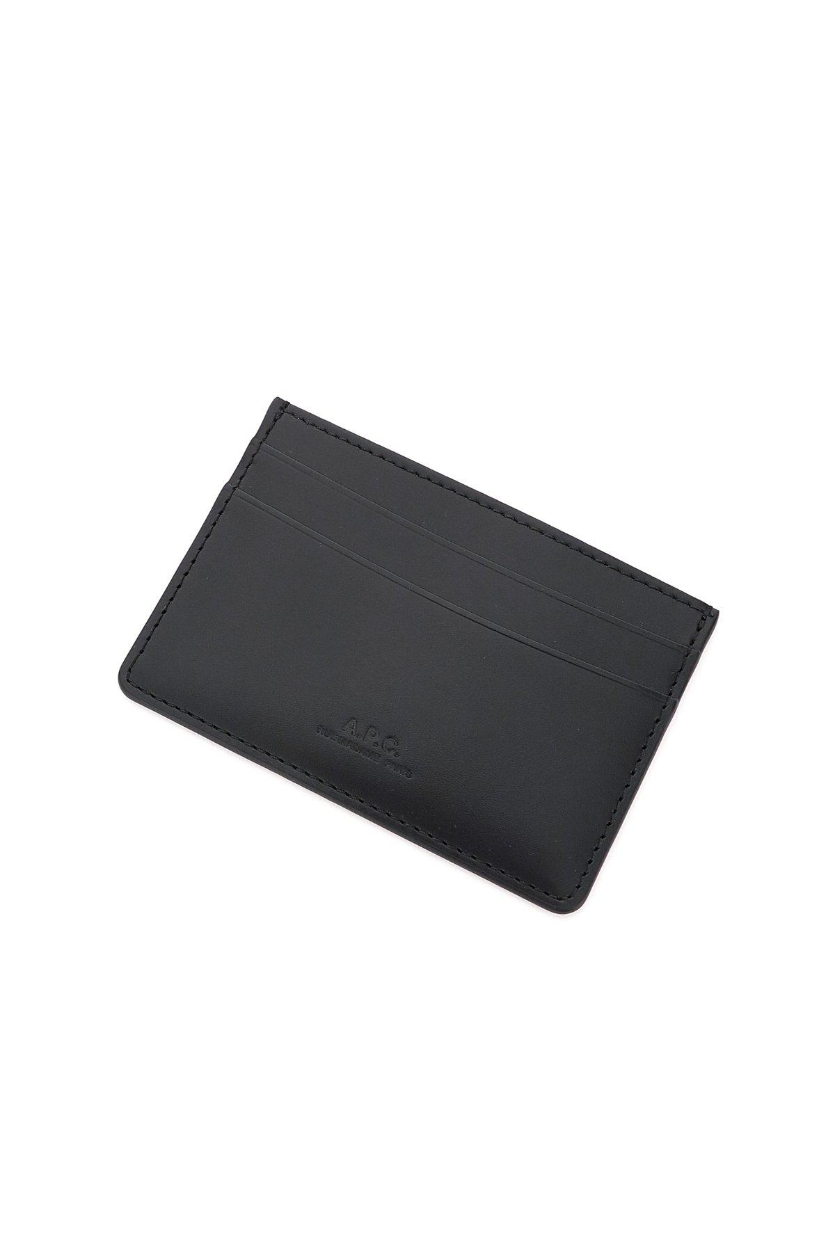 A.p.c. porta carte di credito in pelle