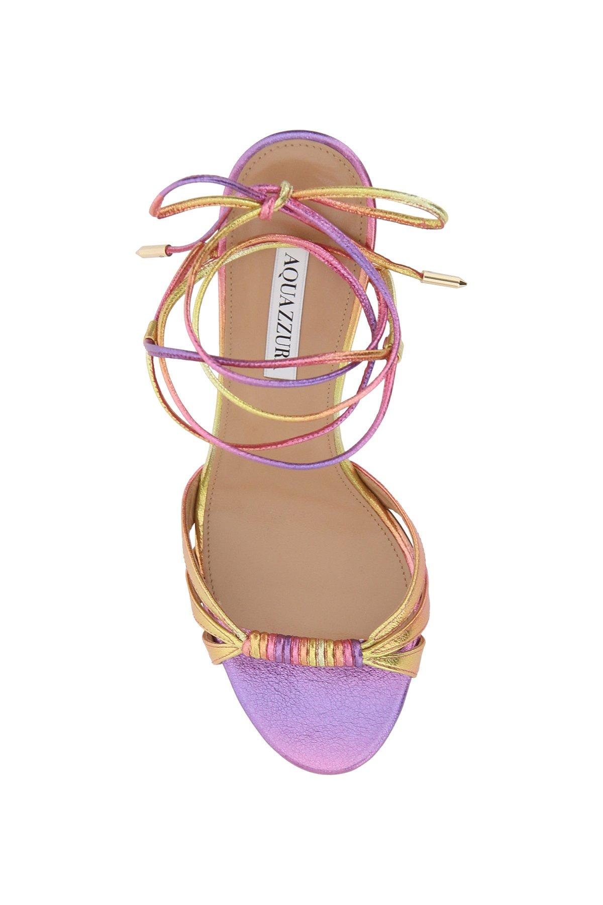 Aquazzura sandali tecnometal nappa