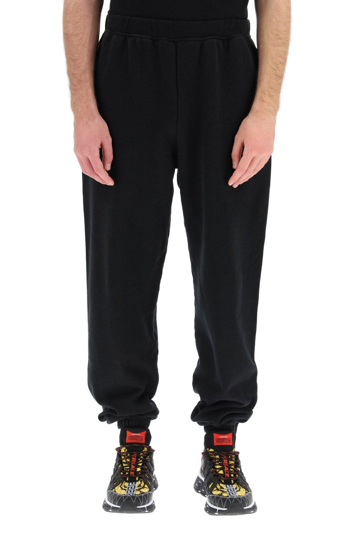 Aries pantaloni jogger stampa temple
