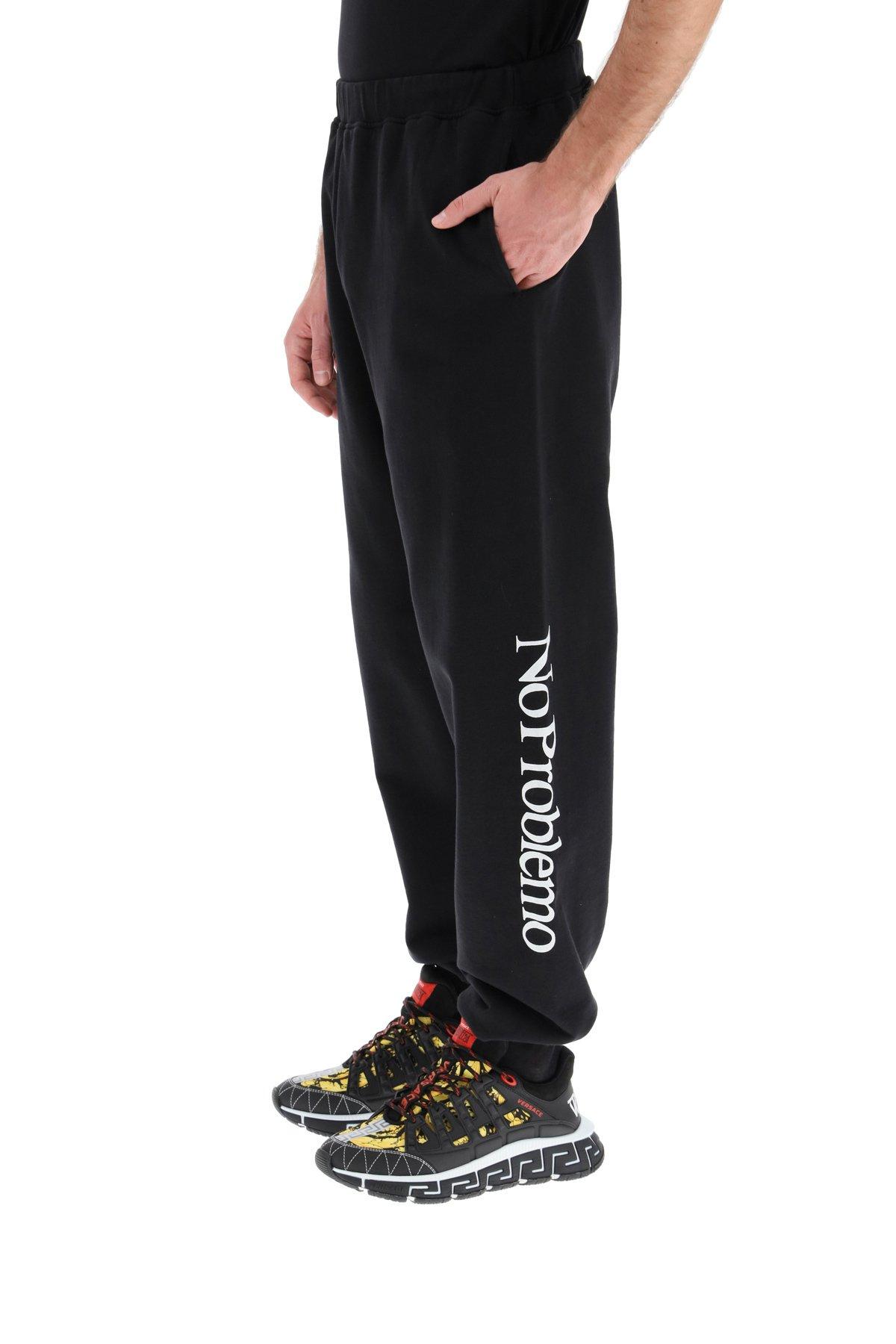 Aries pantalone jogger stampa no problemo