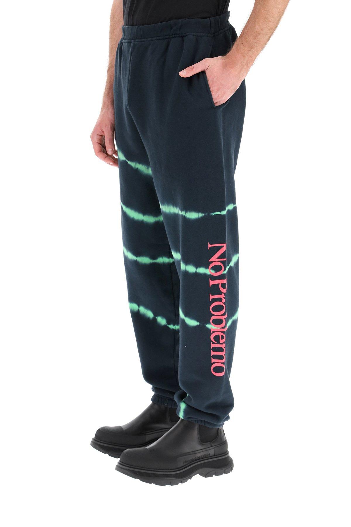 Aries jogger tie-dye stampa fluo no problemo