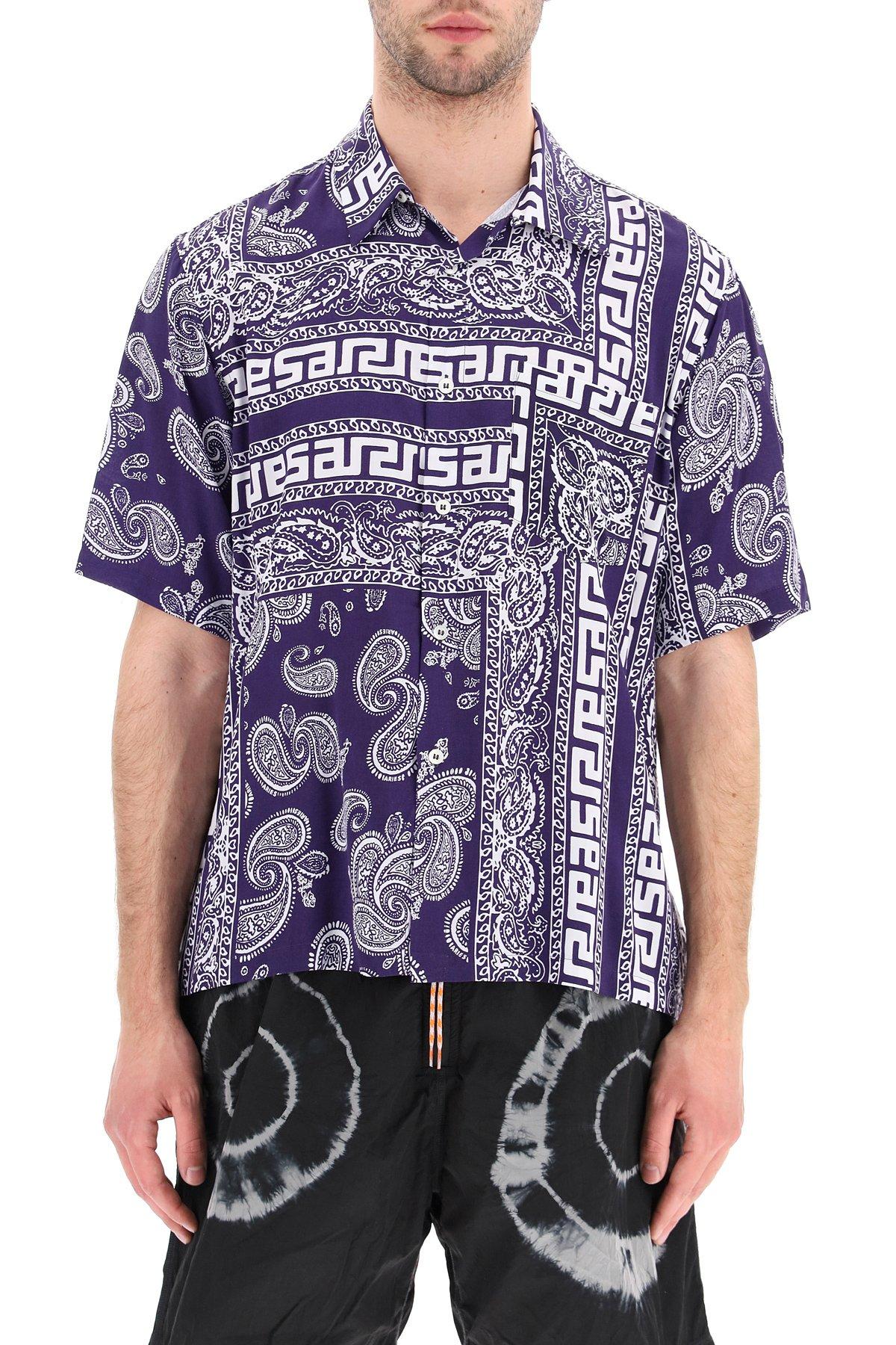 Aries camicia hawaiana stampa bandana