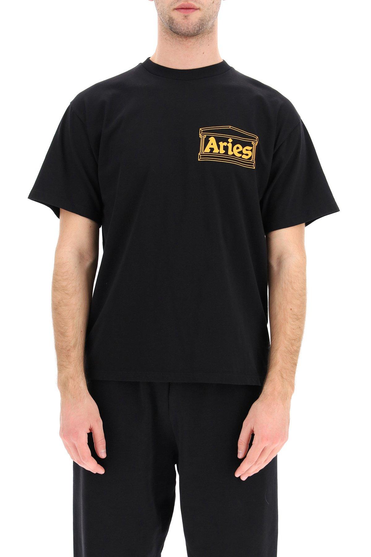 Aries t-shirt stampa logo noodles