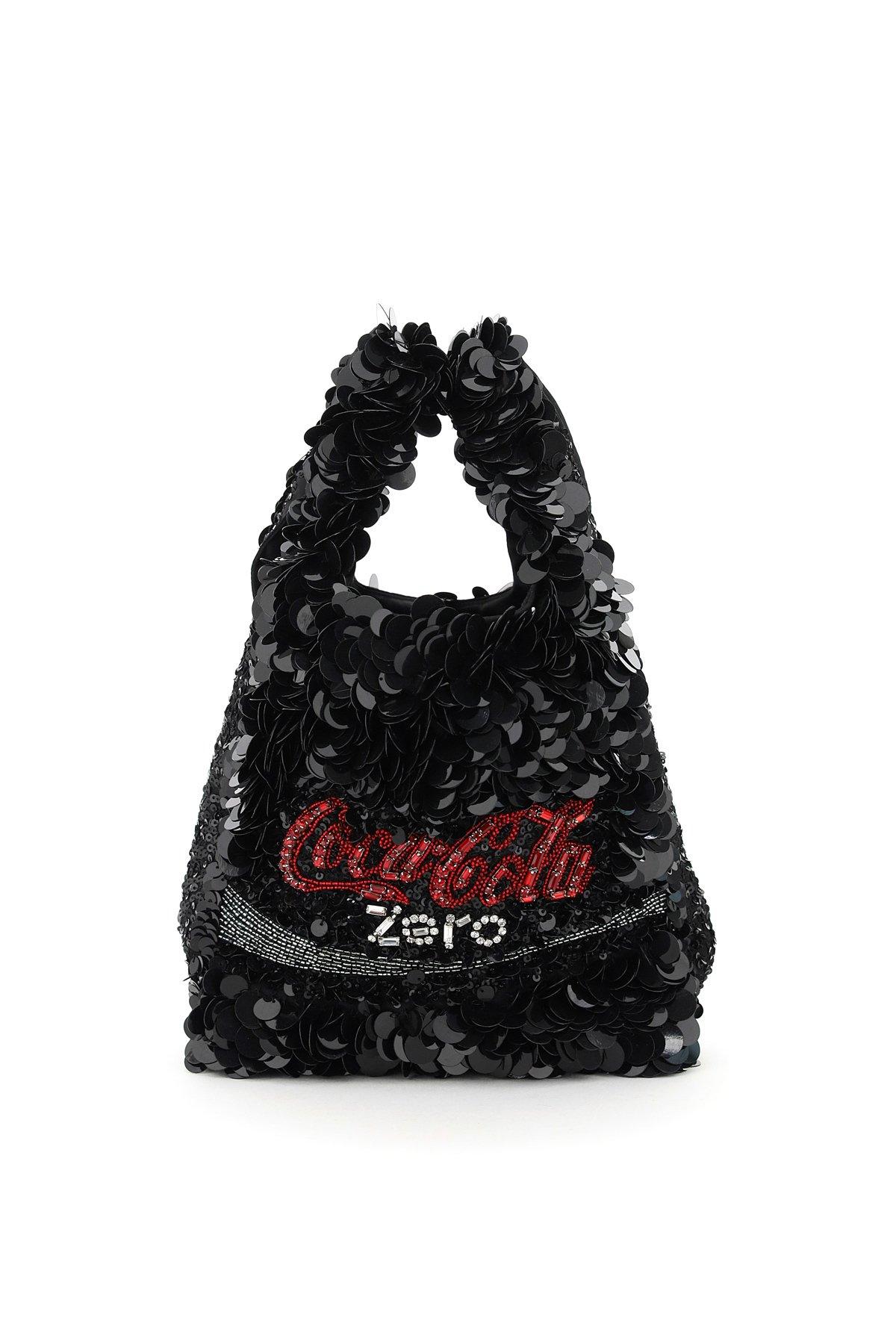 Anya hindmarch shopper mini paillettes anya brands coke zero