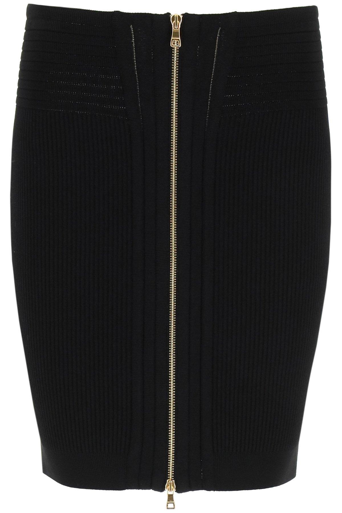 Balmain minigonna con zip