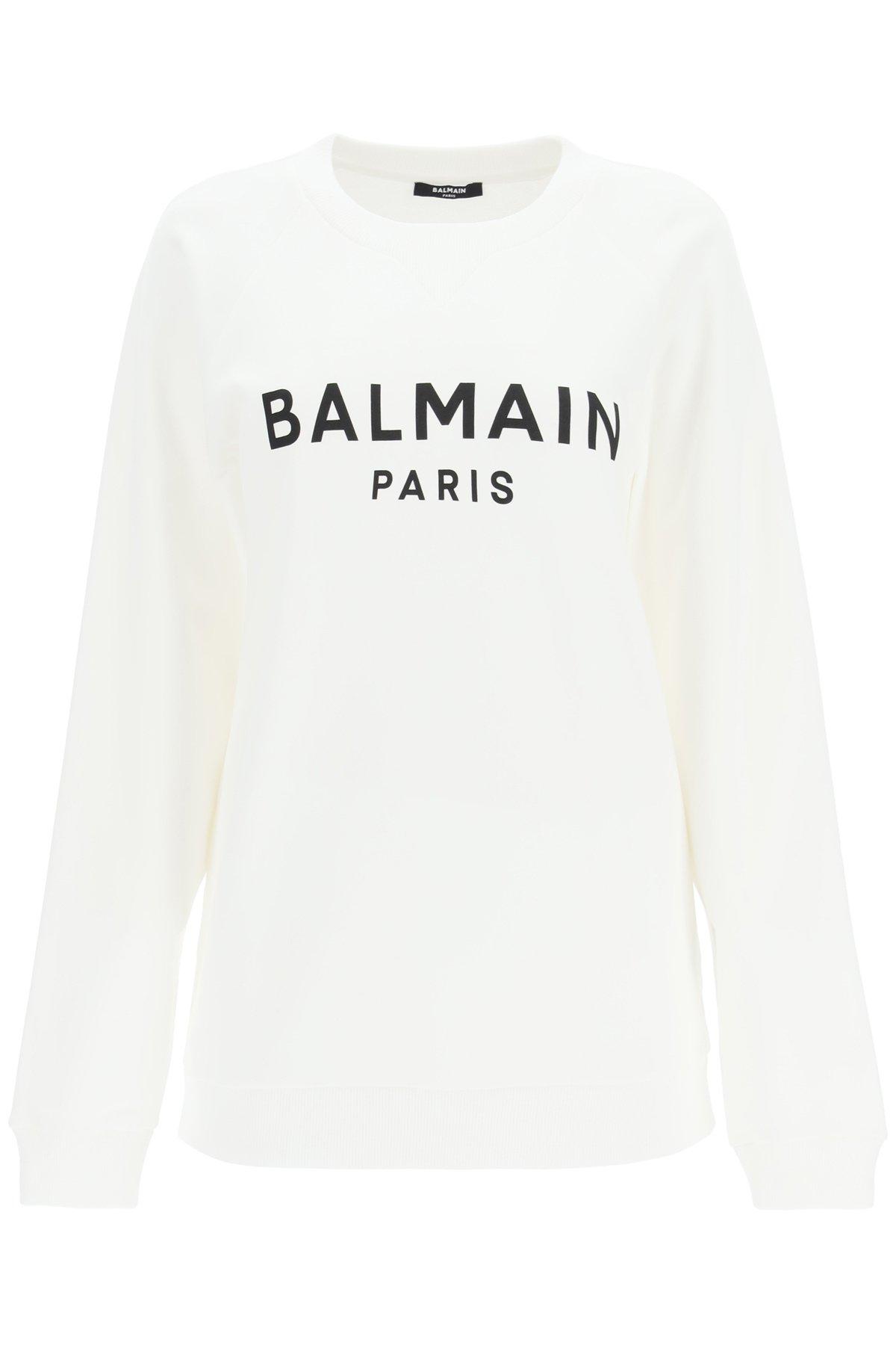 Balmain felpa con stampa logo