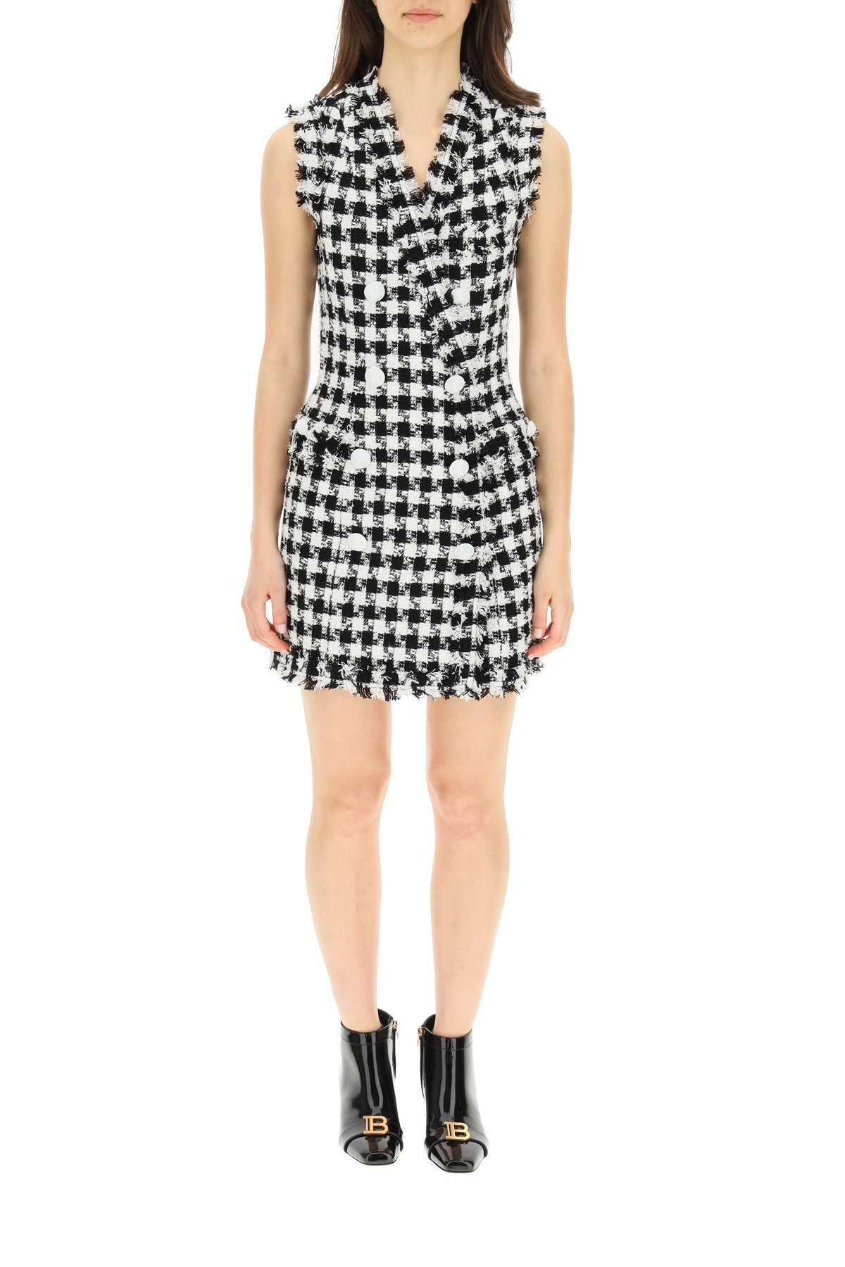 Balmain mini dress gingham