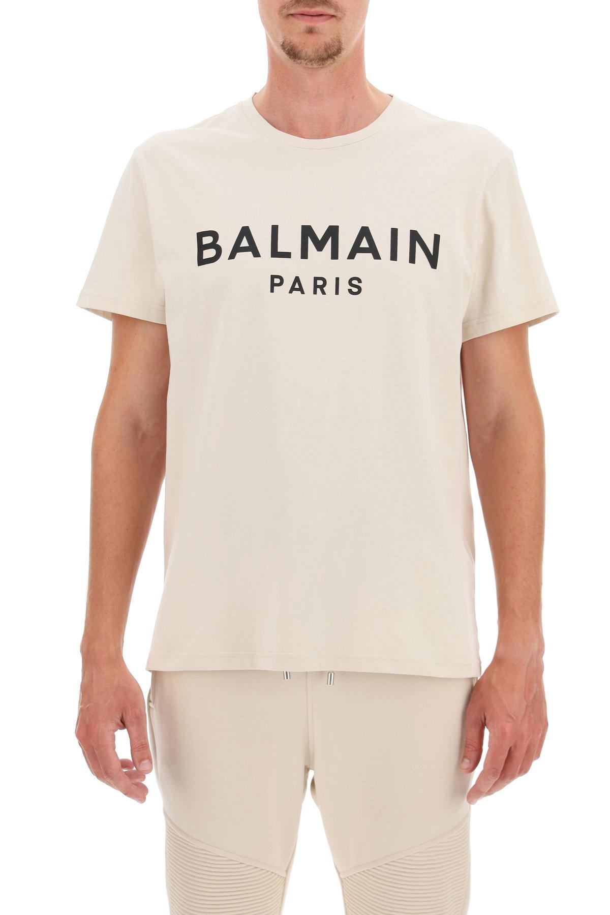 Balmain t-shirt stampa balmain paris