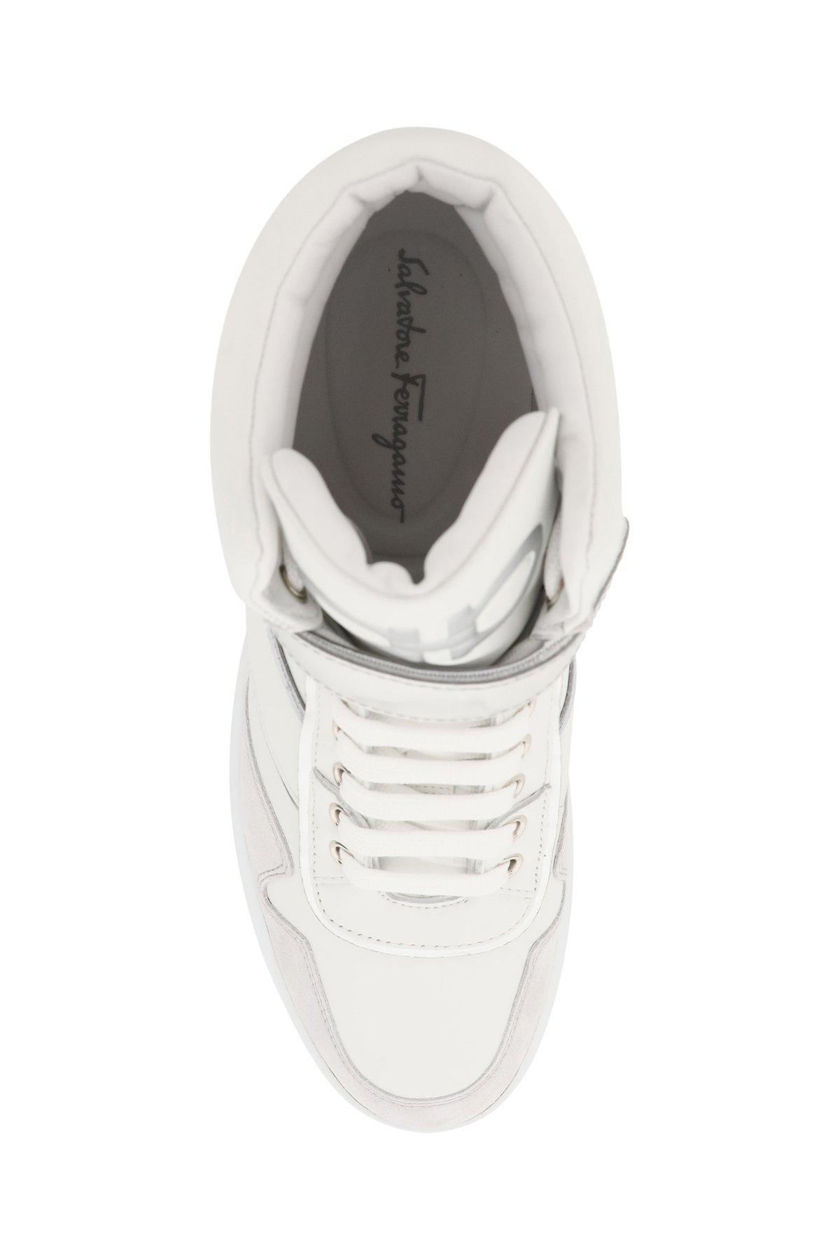 Salvatore ferragamo sneakers alte gancini