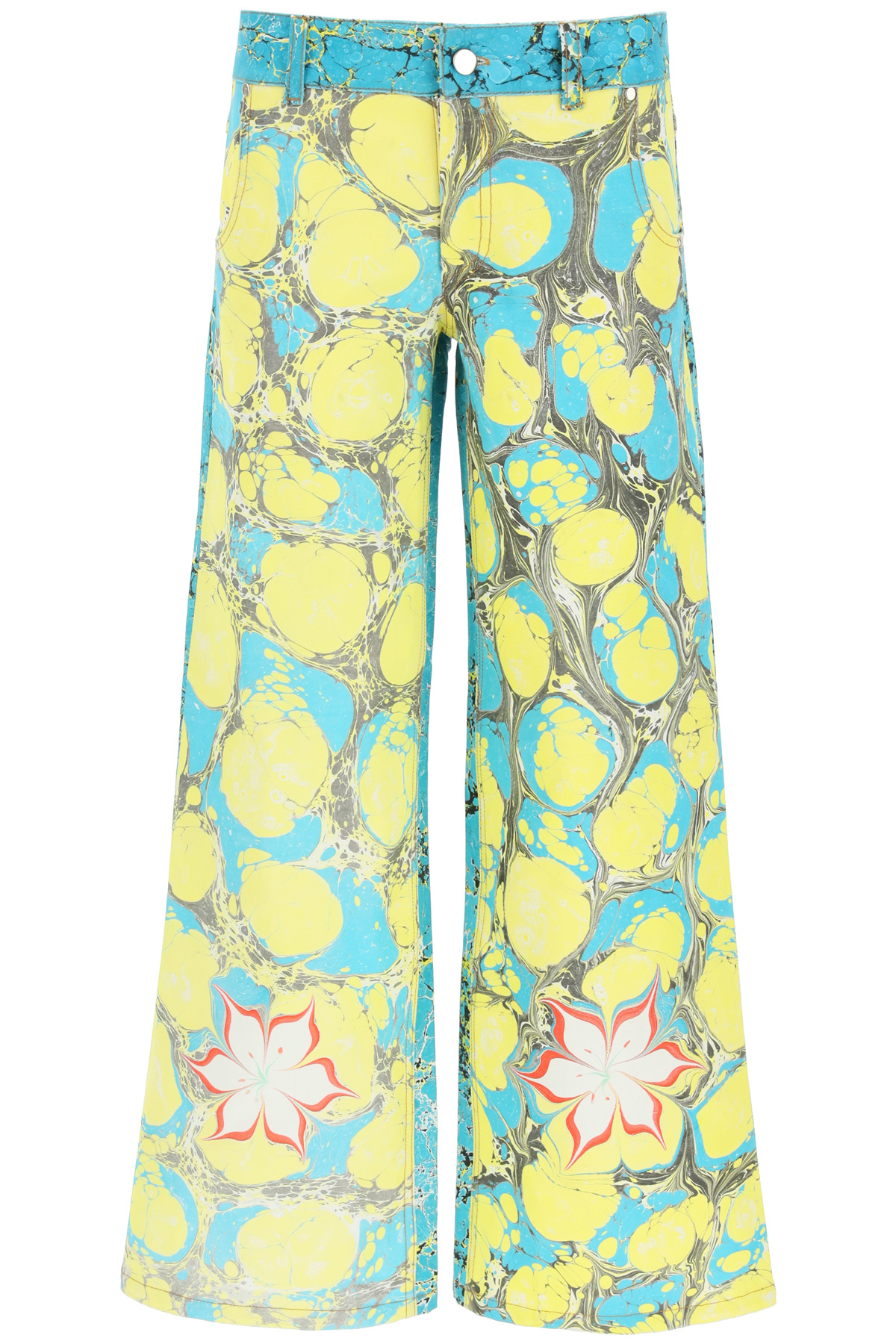 Chopova lowena pantaloni in denim multicolor