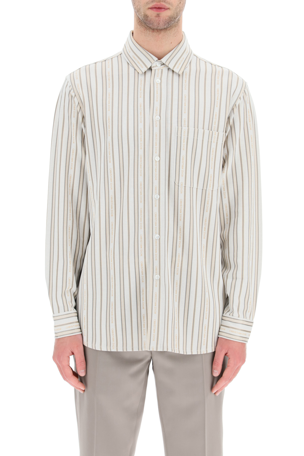 Dior camicia in jersey di cotone tecnico christian dior
