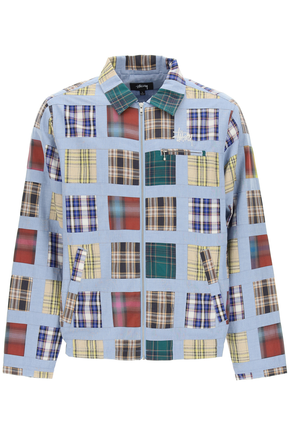 Stussy madras patchwork giacca con zip