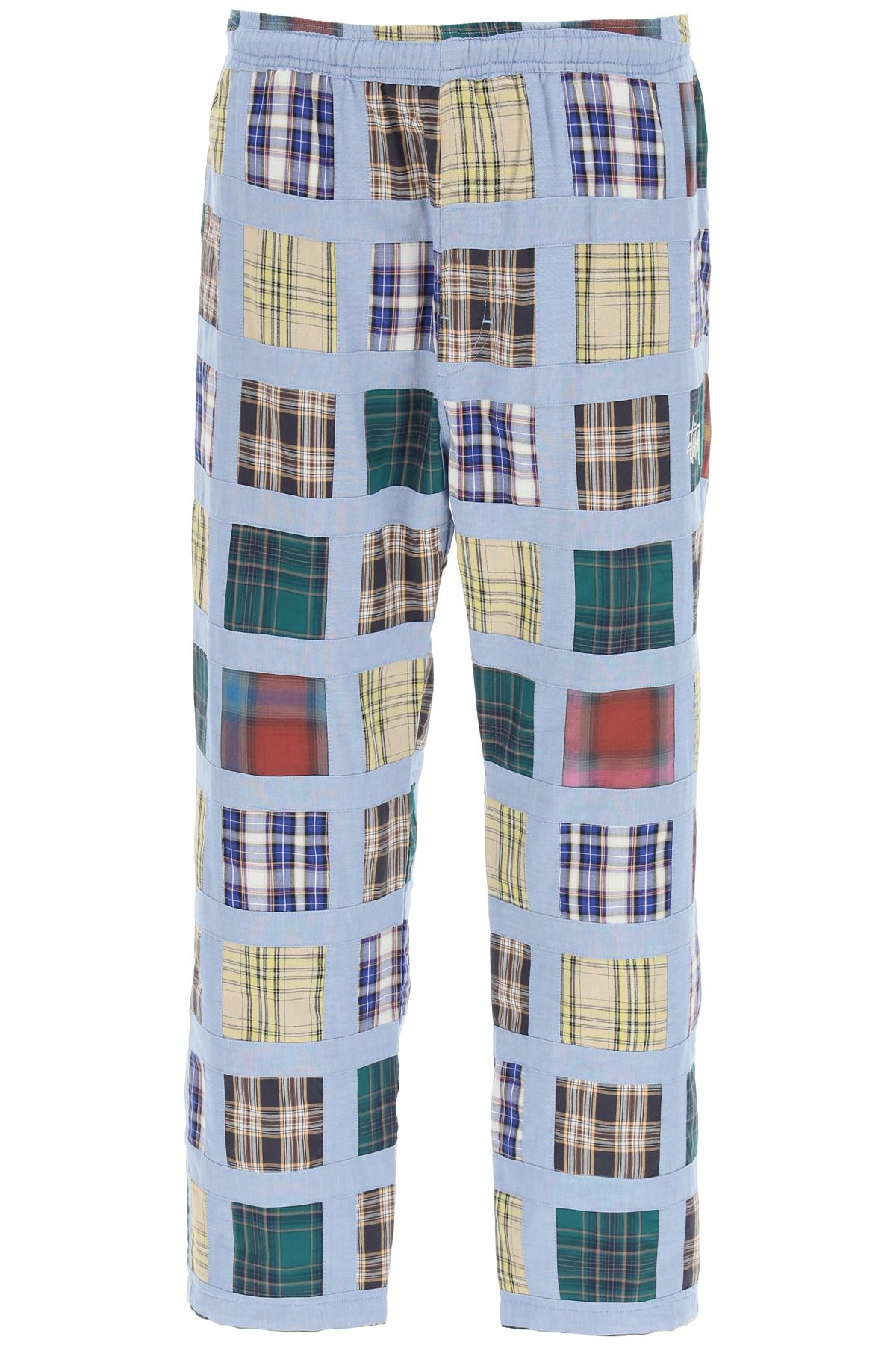 Stussy pantaloni madras patchwork