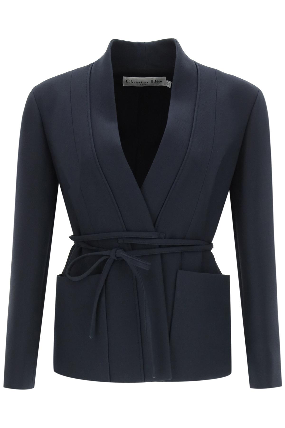 Dior giacca palto' con lacci