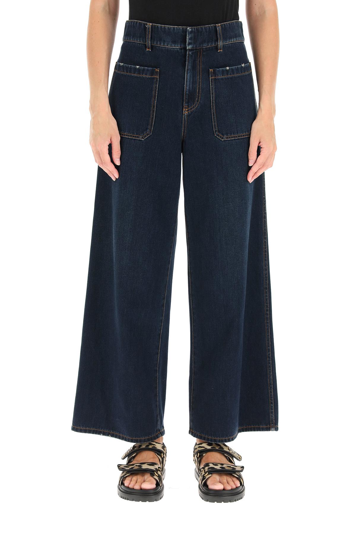 Dior jeans svasati haute couture con pochette porta jeans
