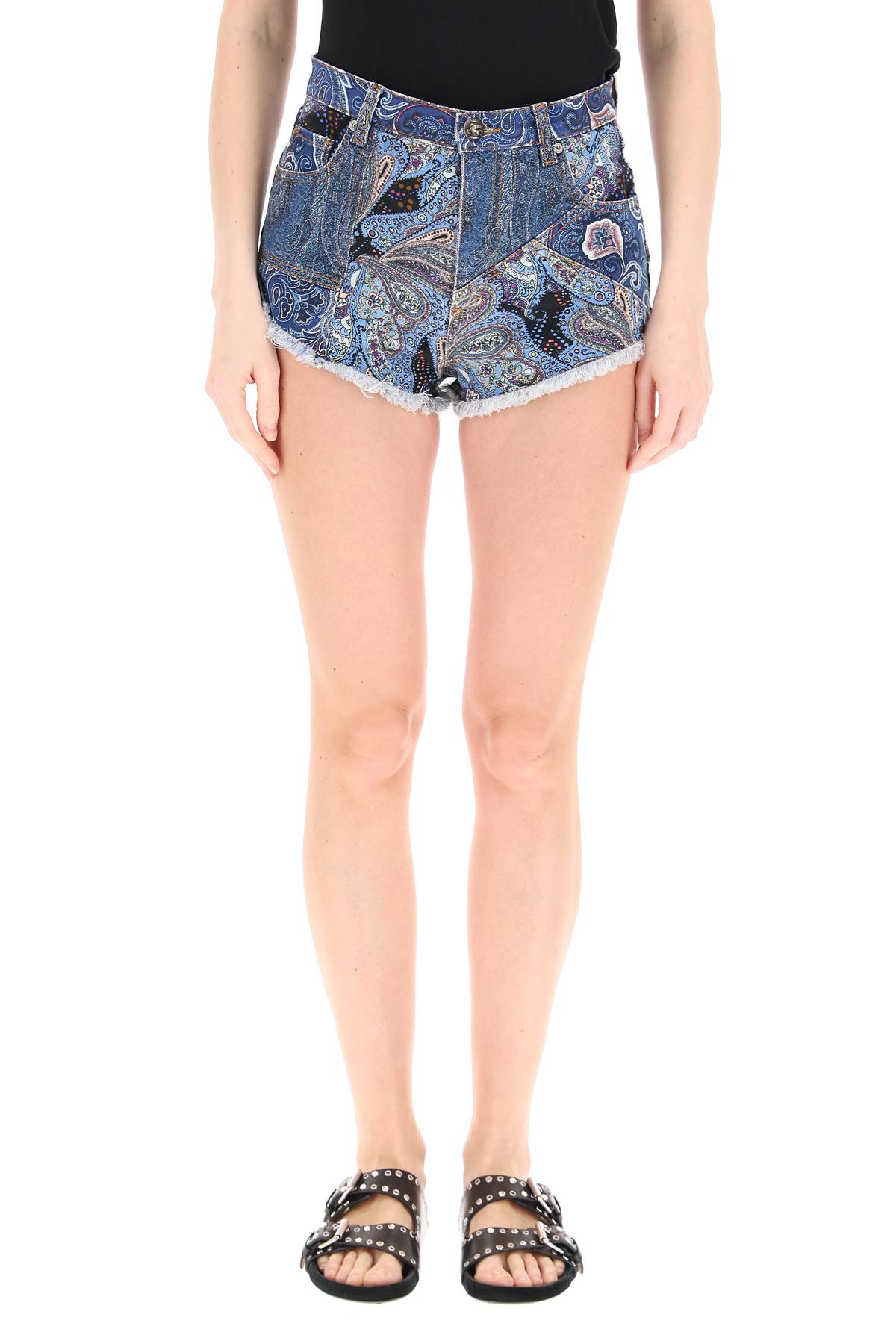 Etro shorts in denim ibiza