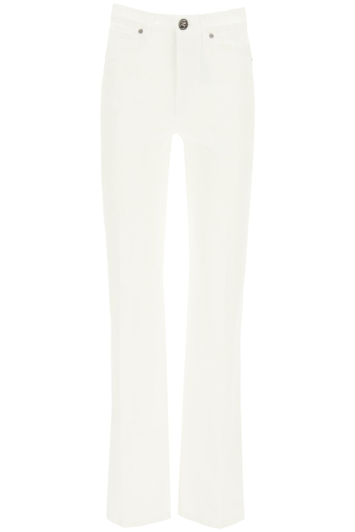 Etro jeans violetta con ricami