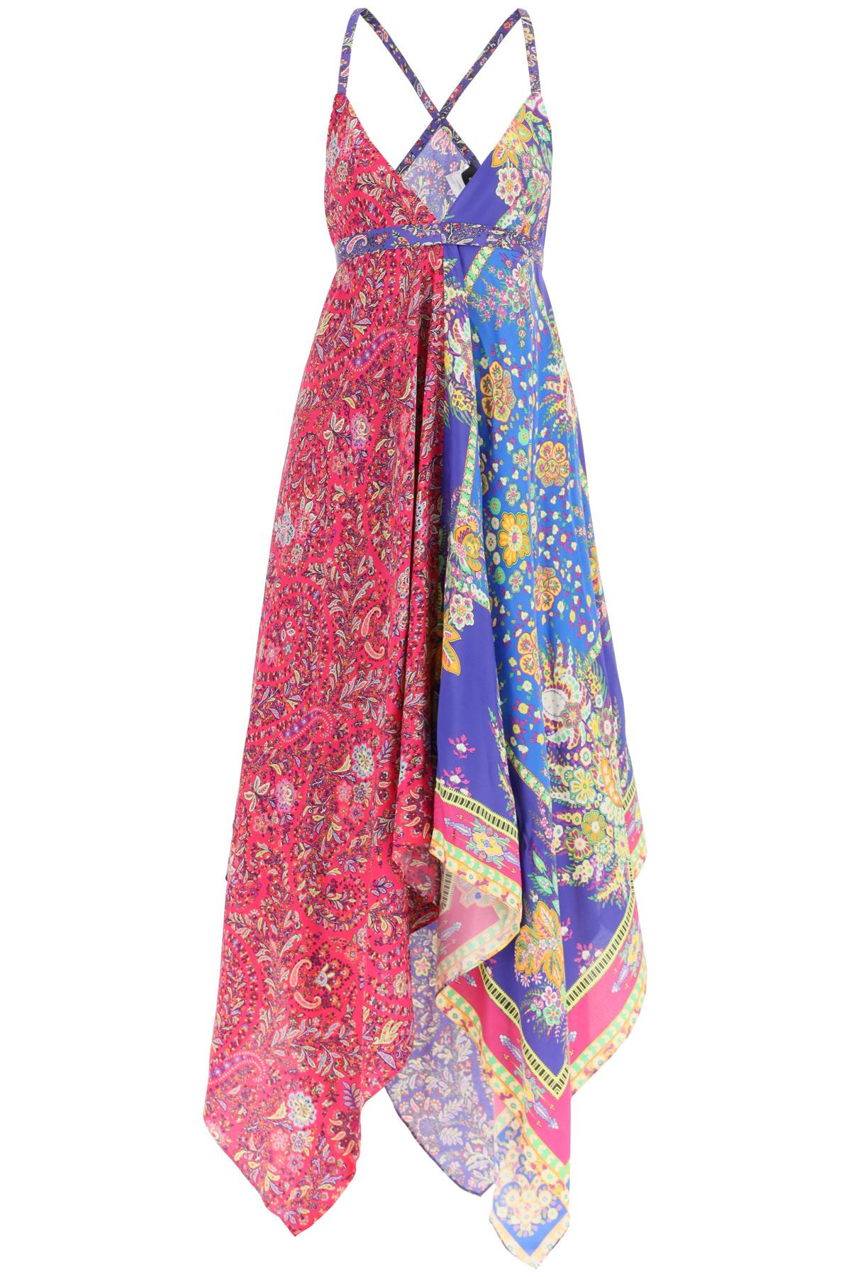 Etro abito idra stampa foulard paisley