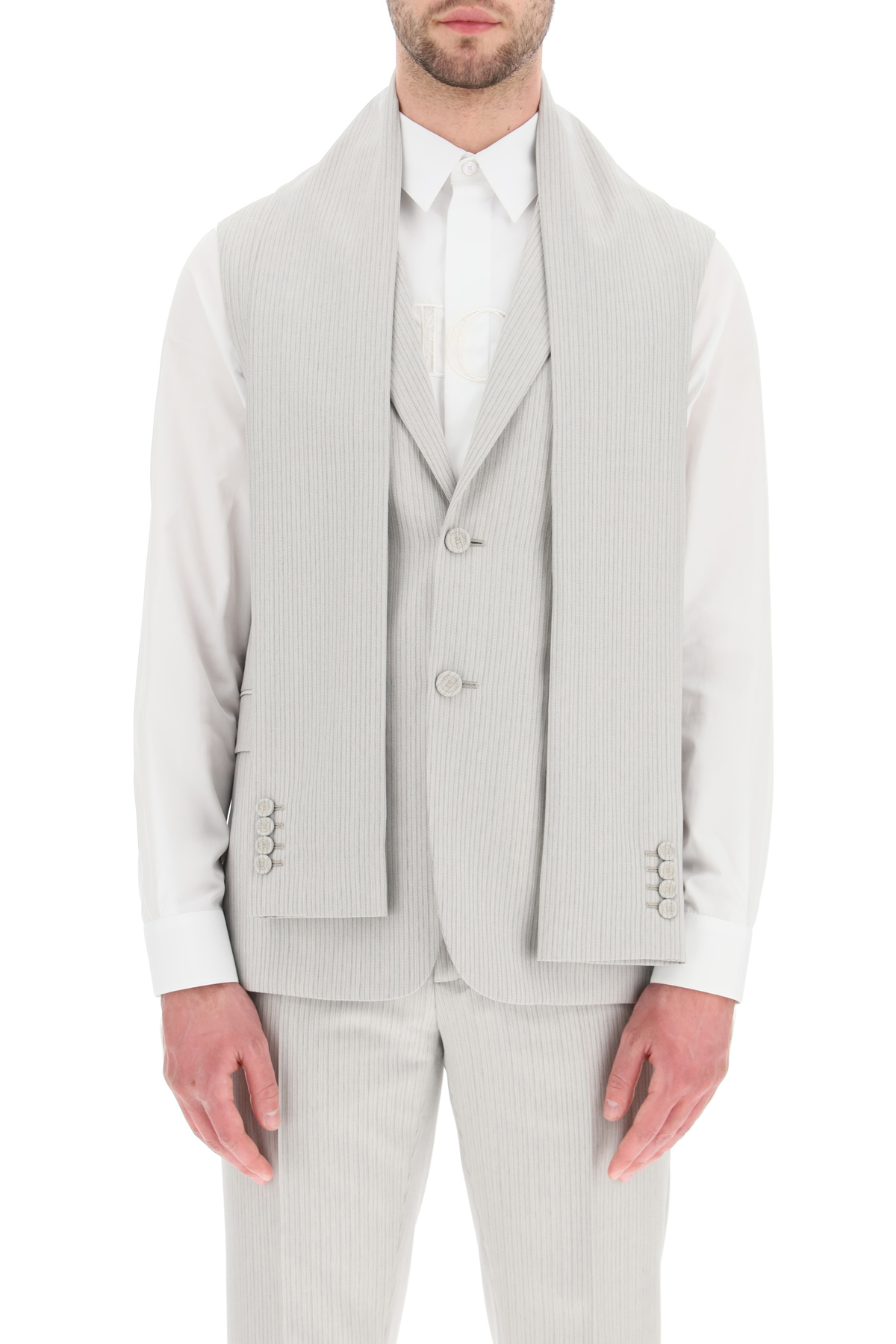 Dior giacca senza maniche in twill di lana