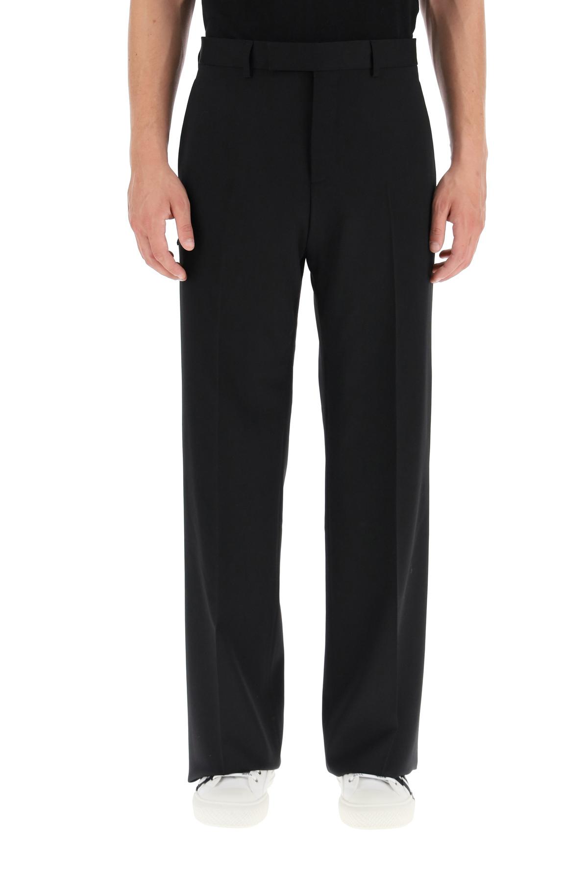 Dior pantaloni cropped in twill di lana