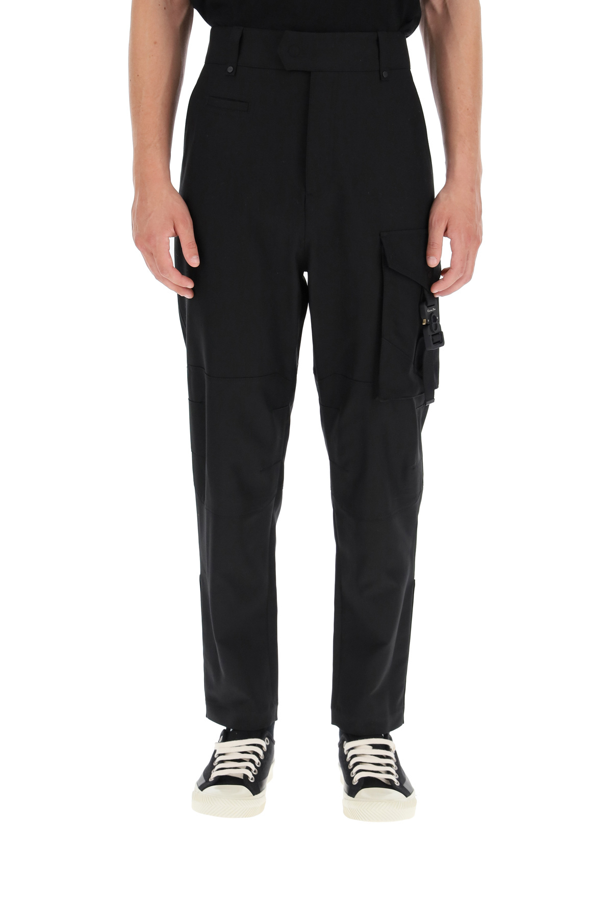 Dior pantaloni cargo con fibbia monogram