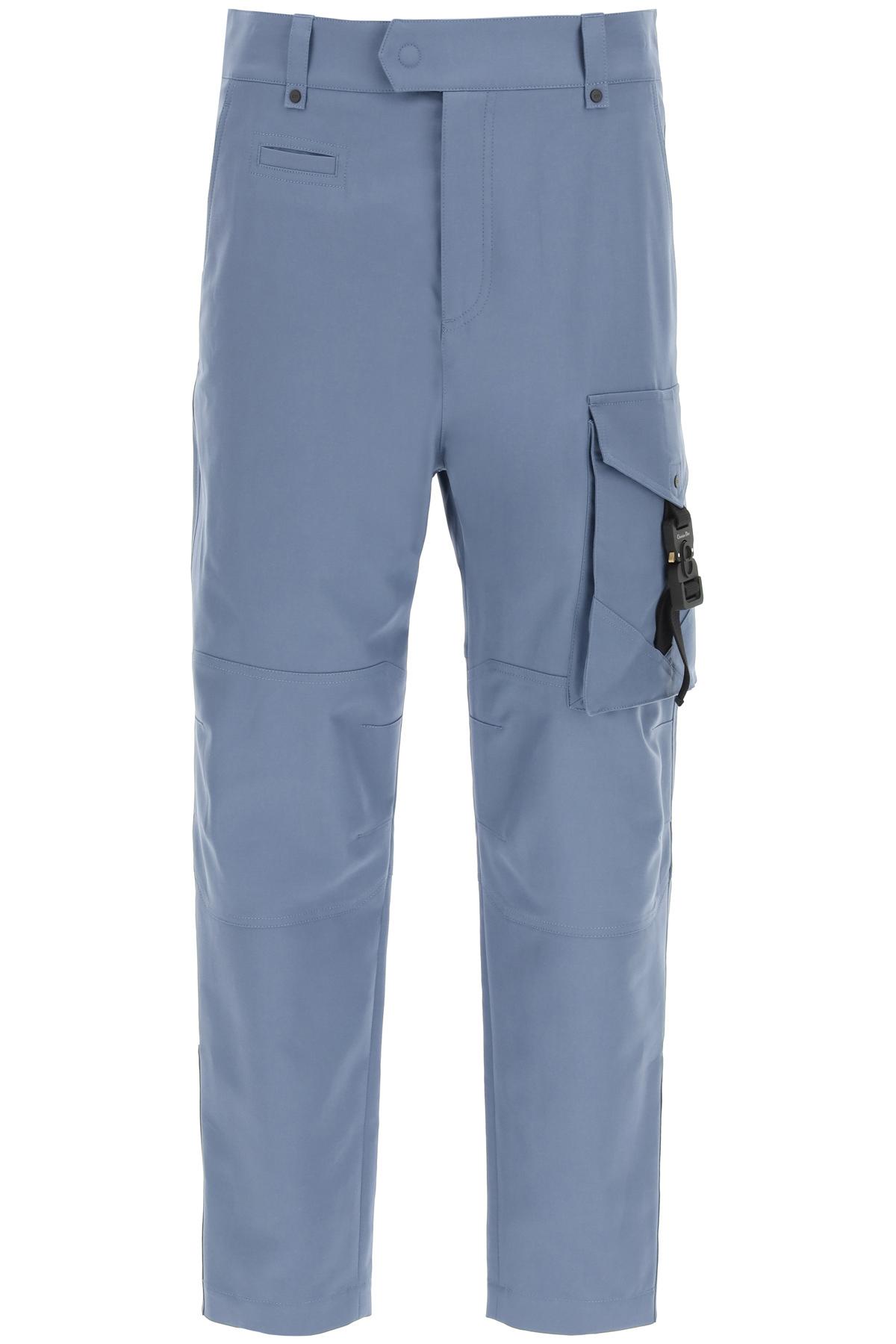 Dior pantaloni cargo con fibbia cd