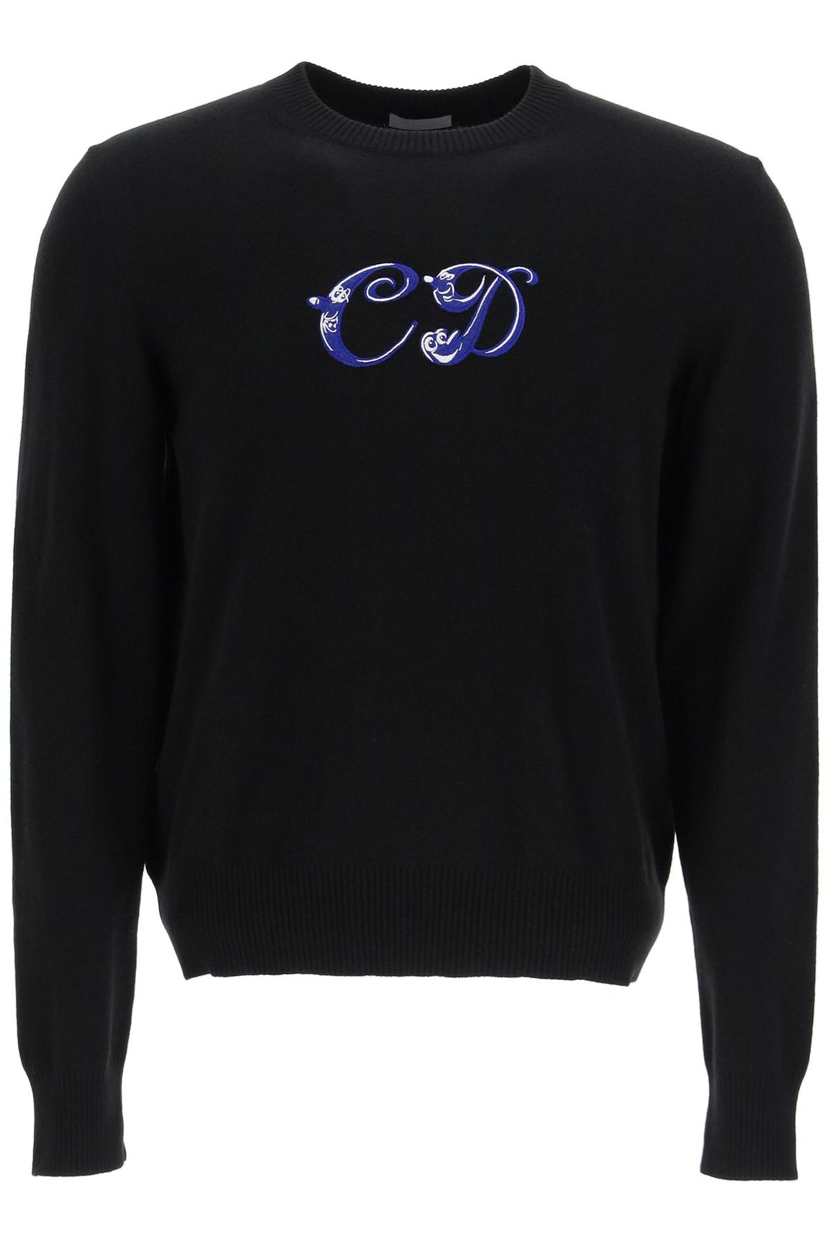 Dior maglione monogram cartoon