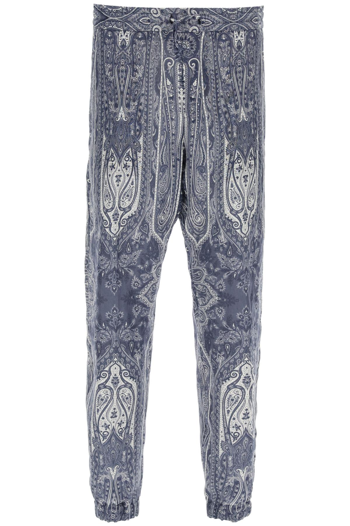 Etro pantaloni jogger stampa paisley