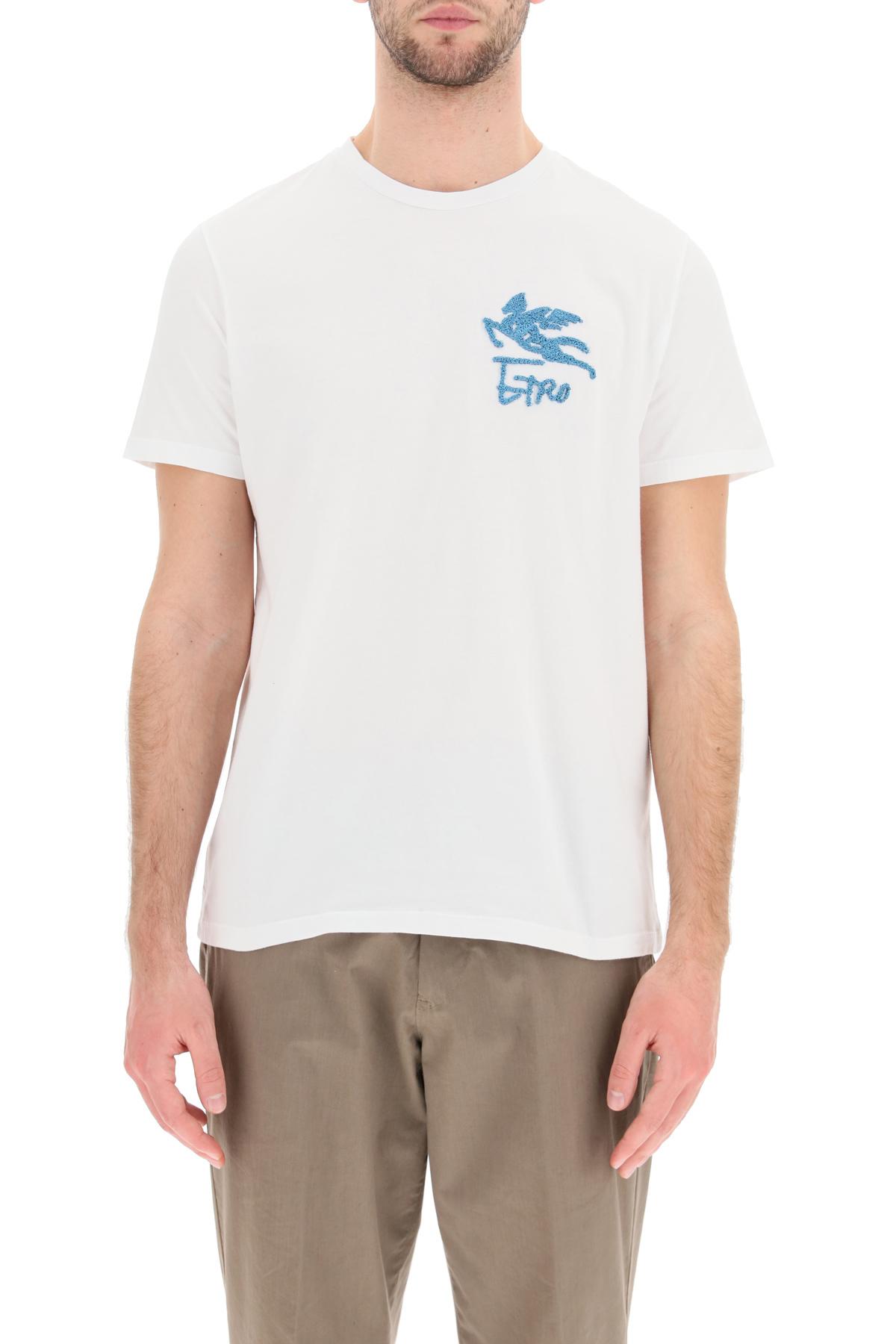 Etro t-shirt ricamo pegaso