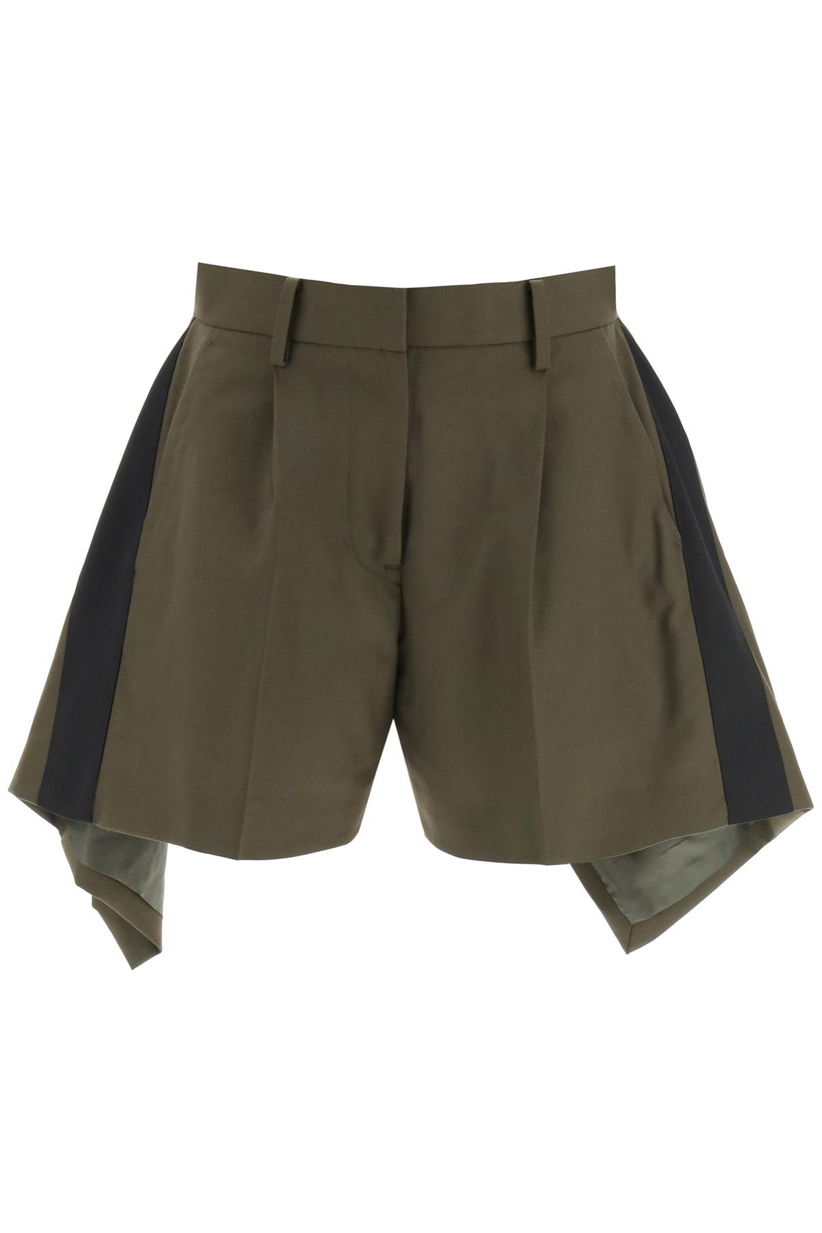 Sacai shorts asimmetrici