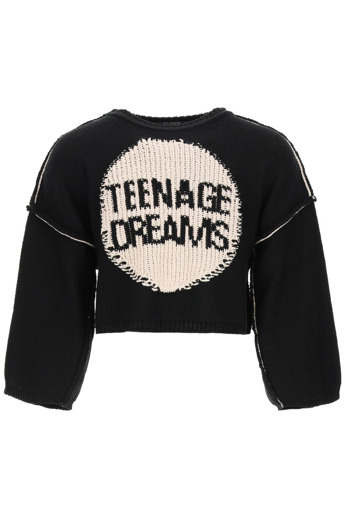 Raf simons pullover oversize ricamo teenage dreams