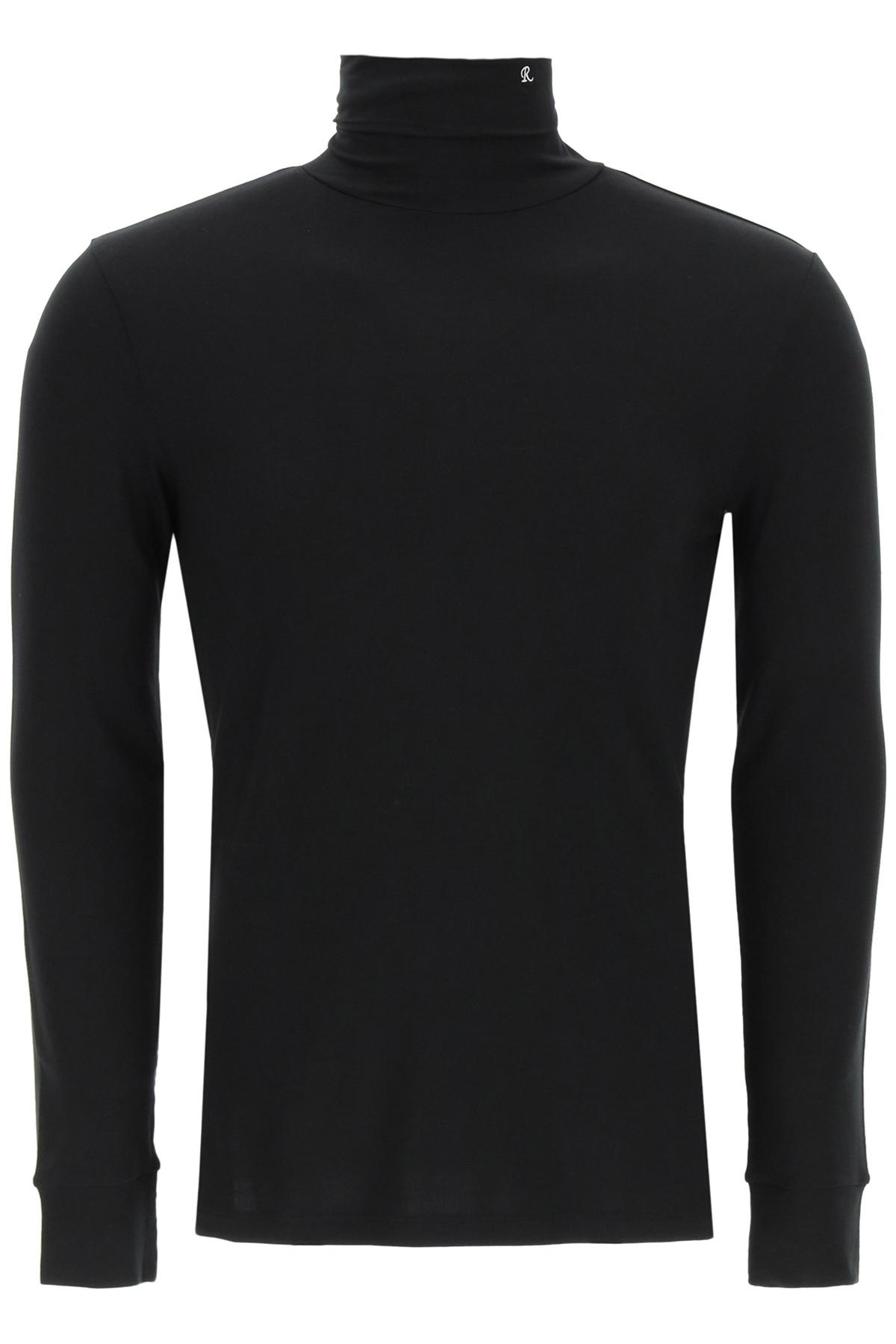 Raf simons maglia in jersey a collo alto