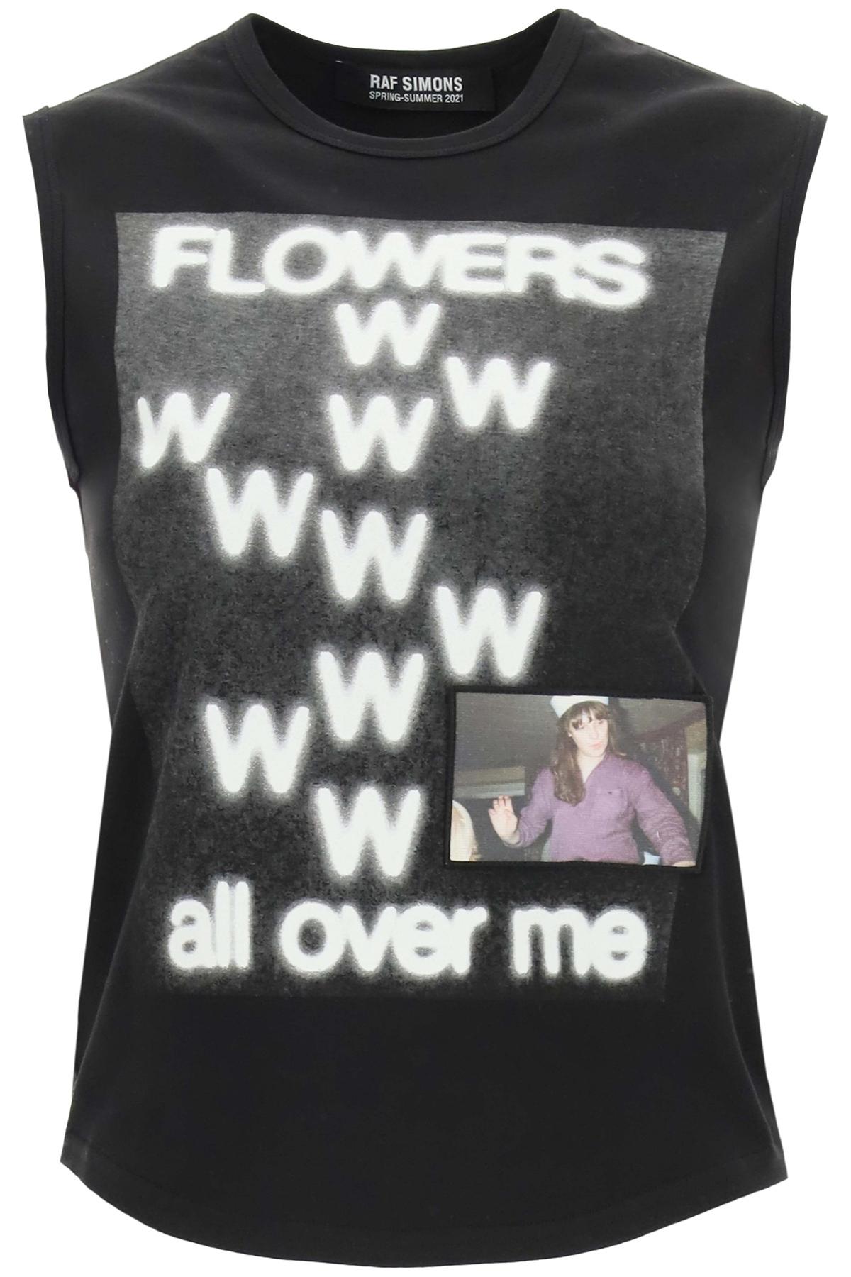 Raf simons top stampa flowers