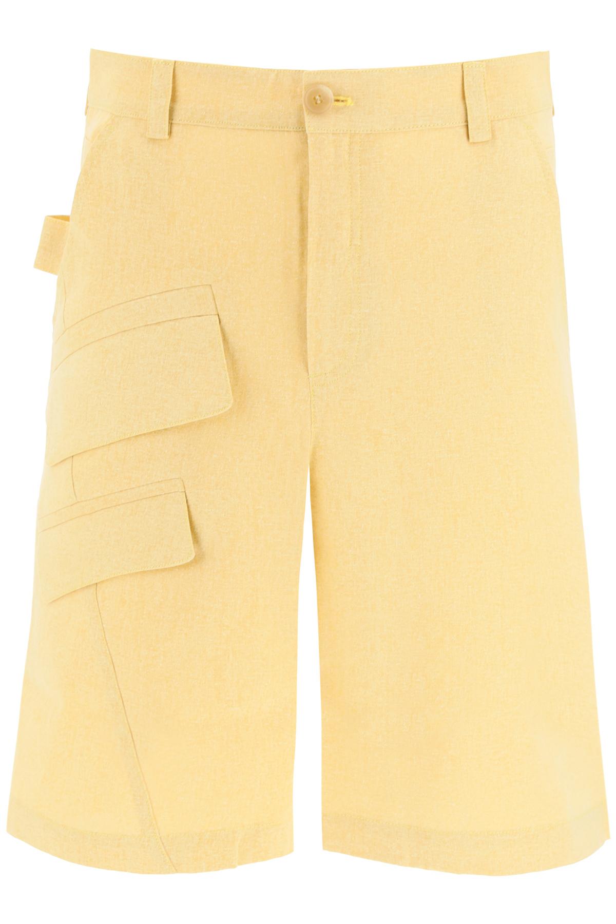 Jacquemus pantalone bermuda colza