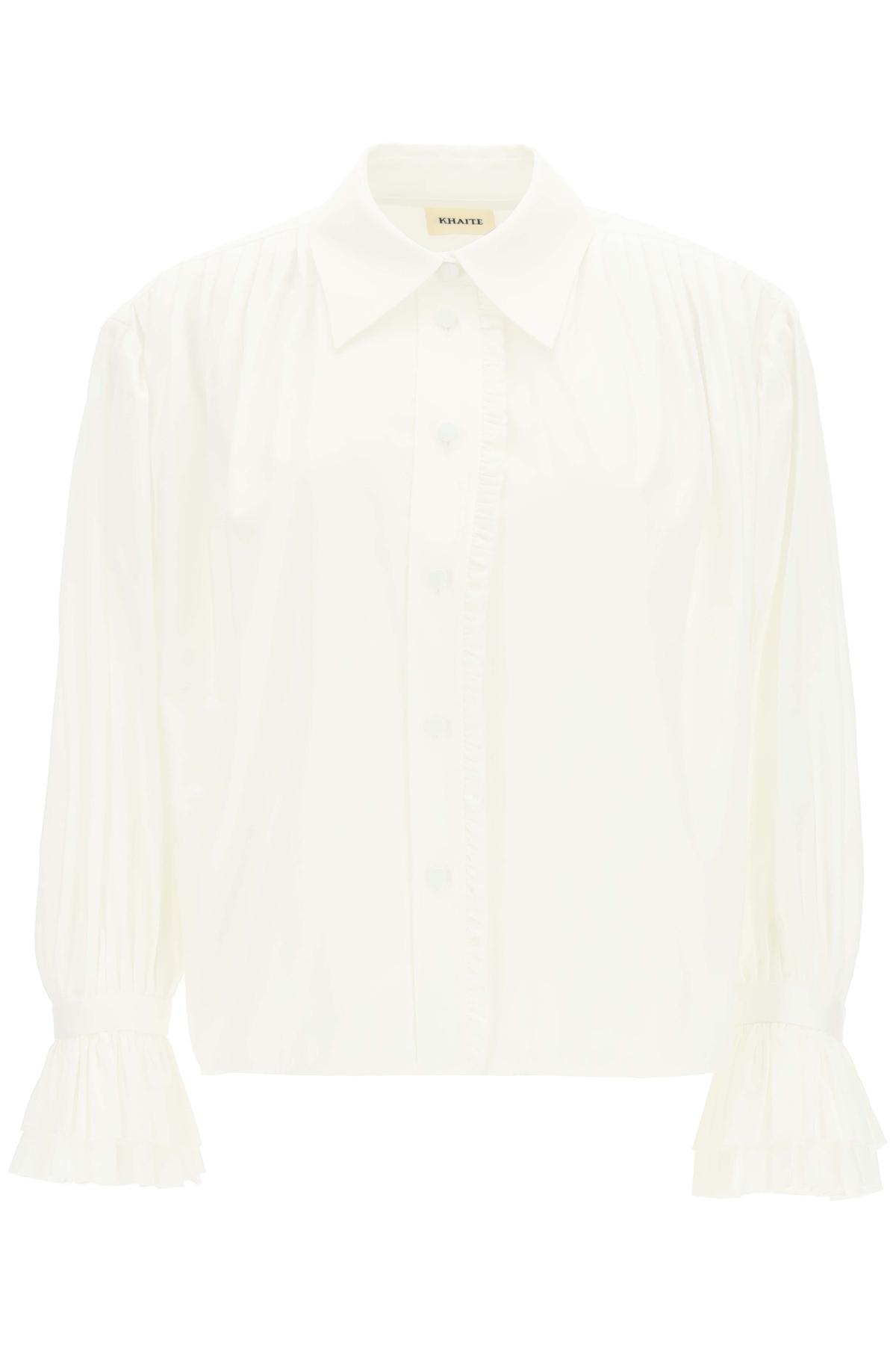 Khaite camicia vanina con rouches
