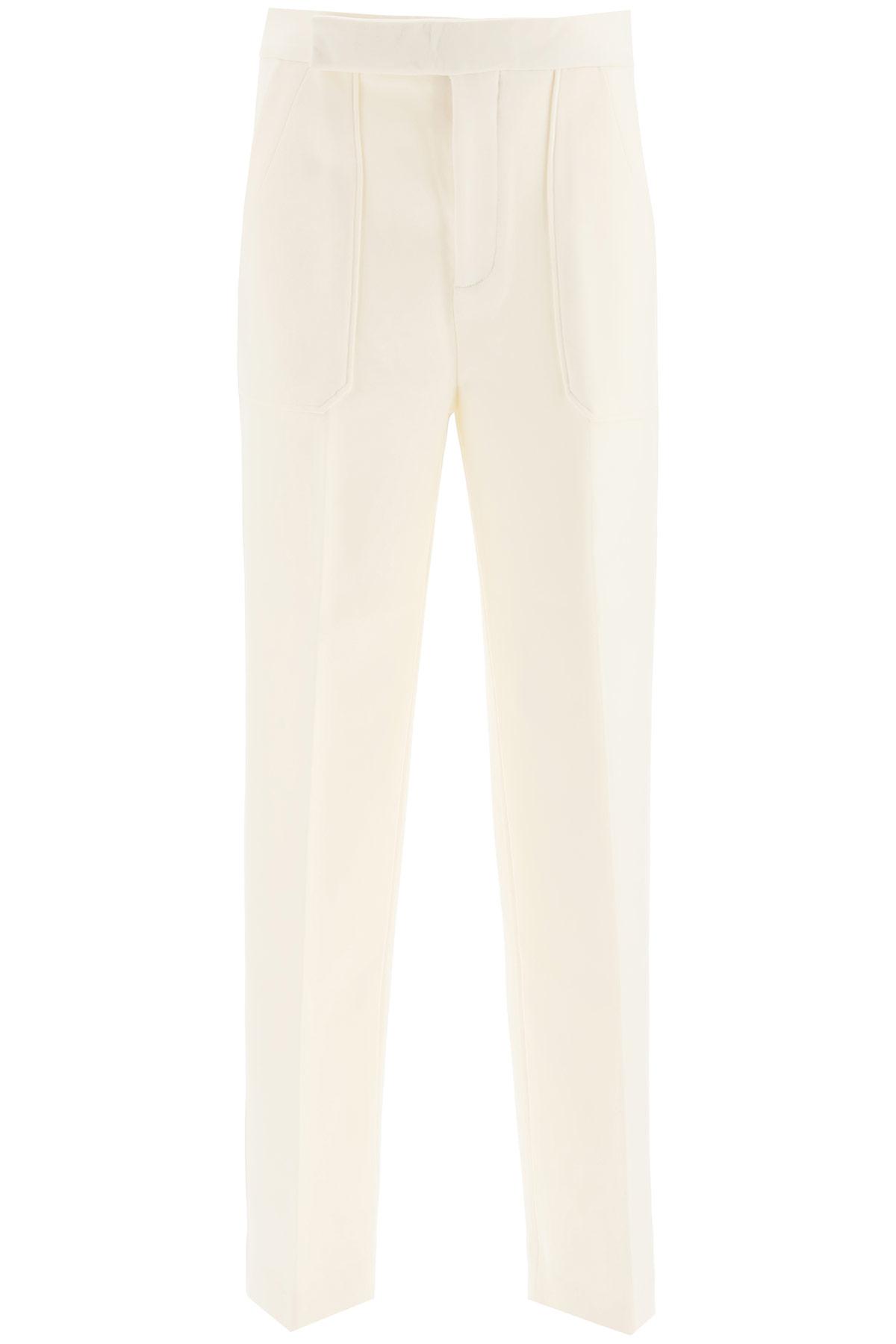 Khaite pantalone theresa in lana