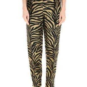 Khaite pantalone magdeline zebrato