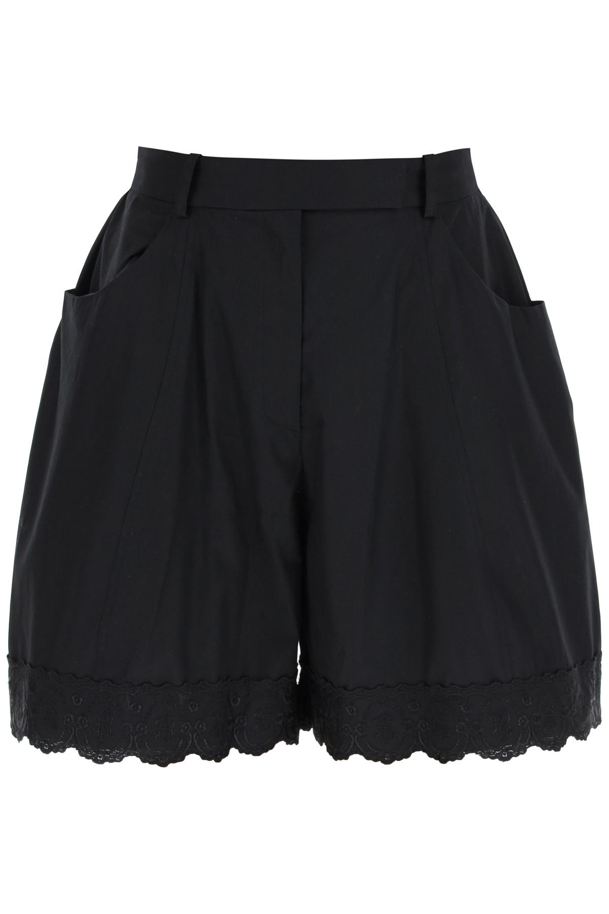 Simone rocha shorts oversize con bordo