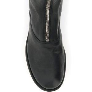 Guidi stivali in pelle front zip