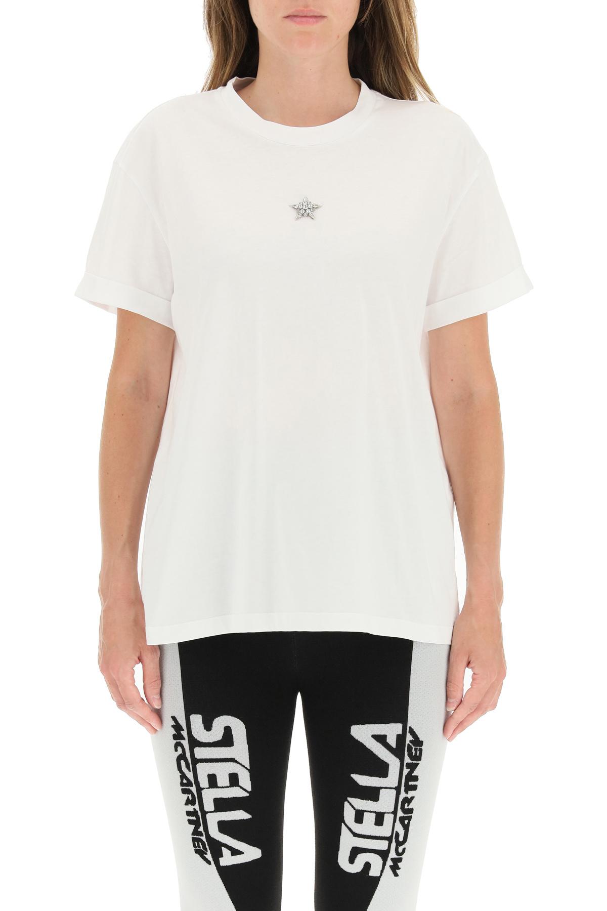 Stella mccartney t-shirt con crystal star