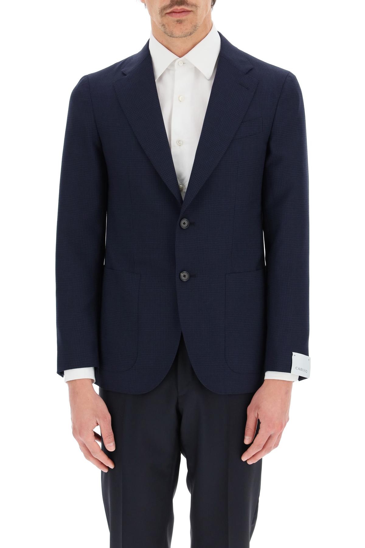 Caruso blazer tosca in lana a quadri