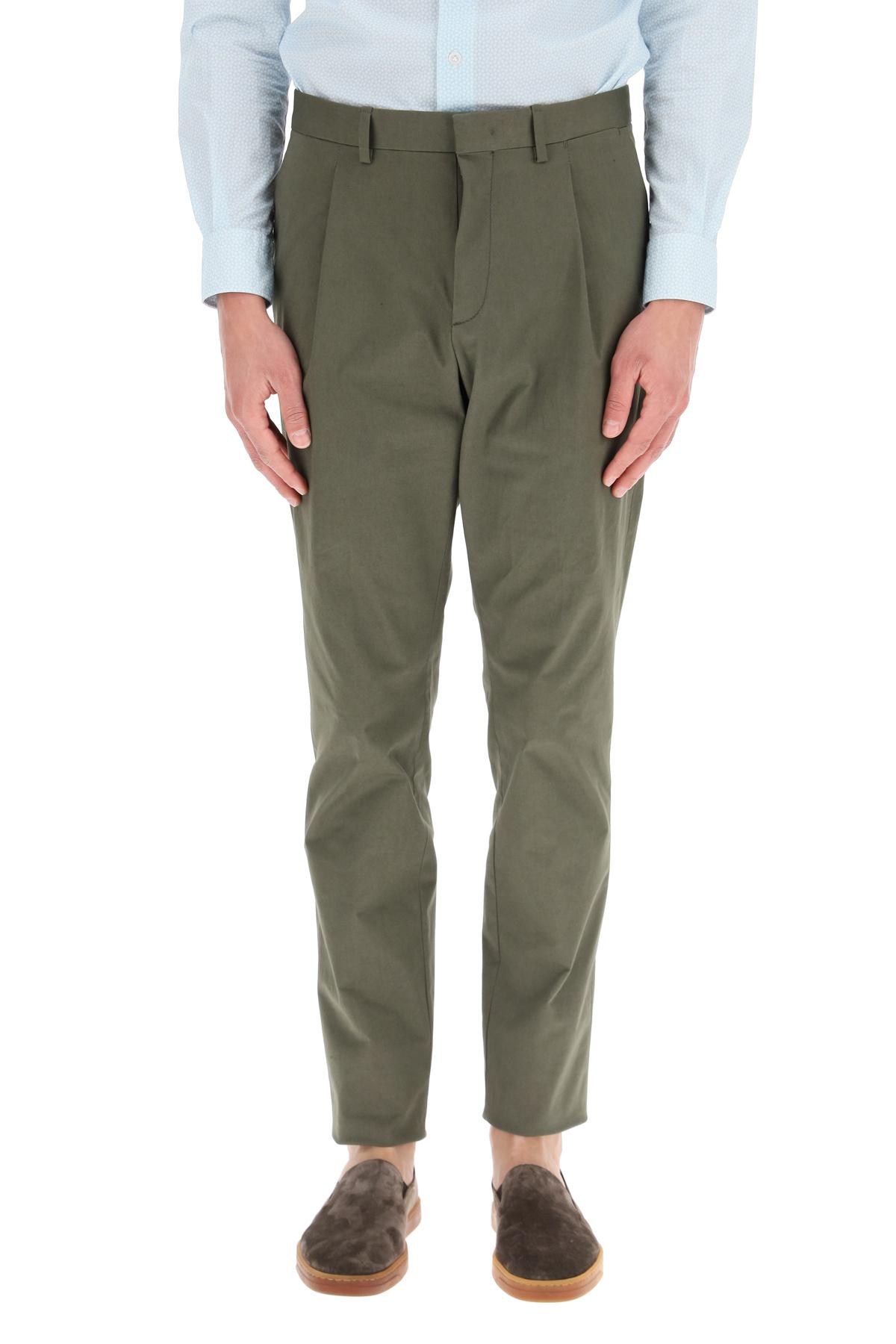 Caruso pantaloni con pinces