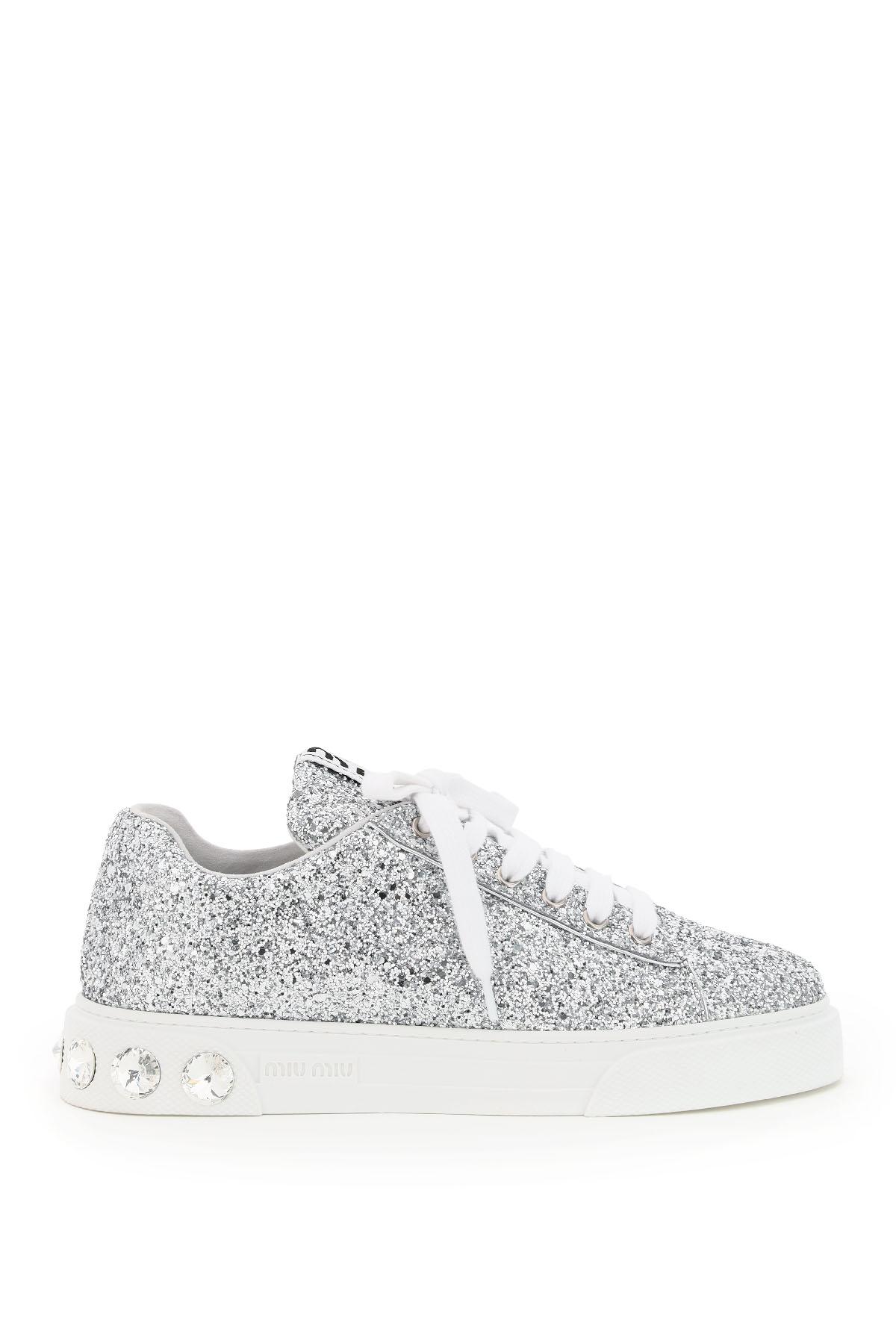 Miu miu sneakers glitter crystal